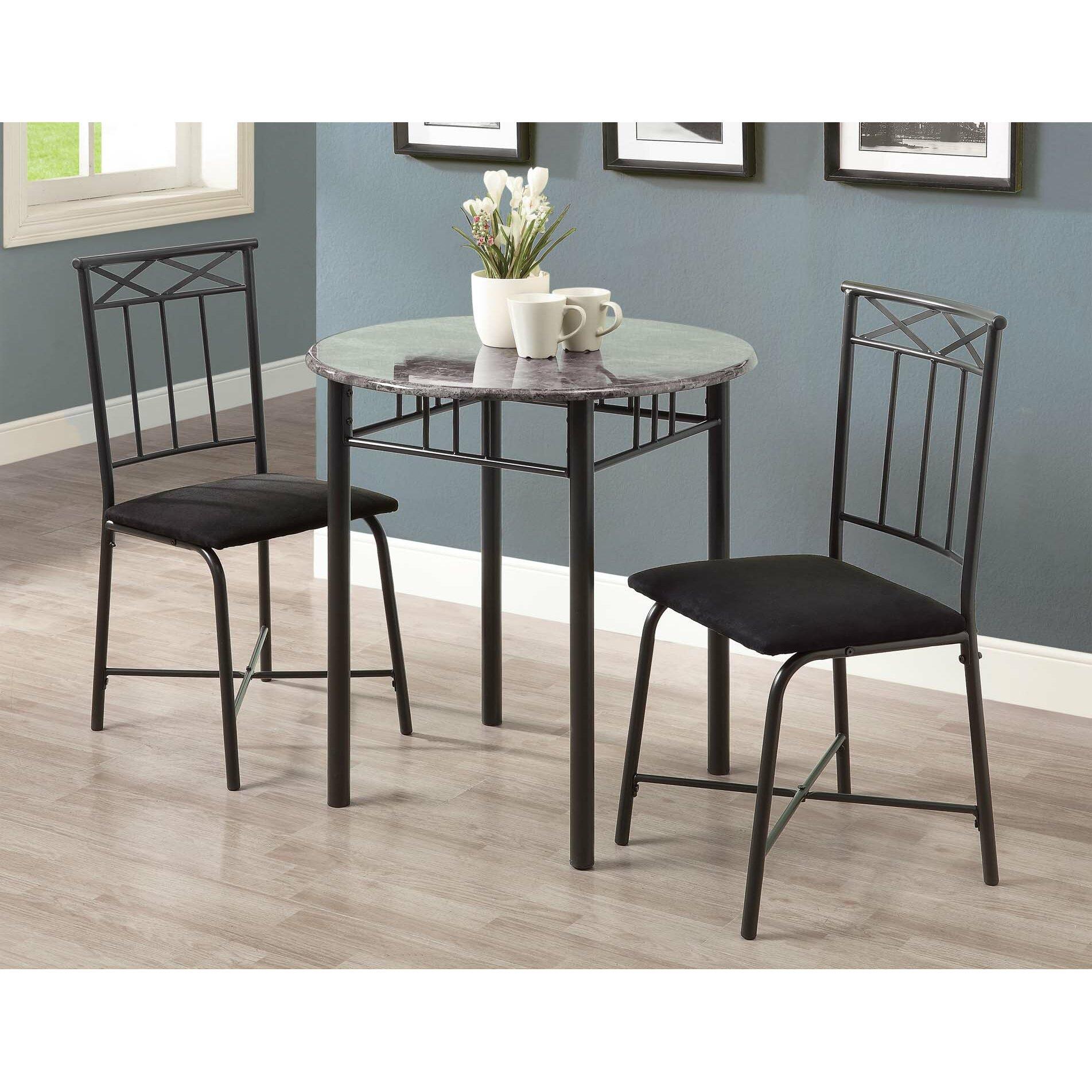 3 Piece Dining Room Set: Monarch Specialties Inc. 3 Piece Dining Set & Reviews