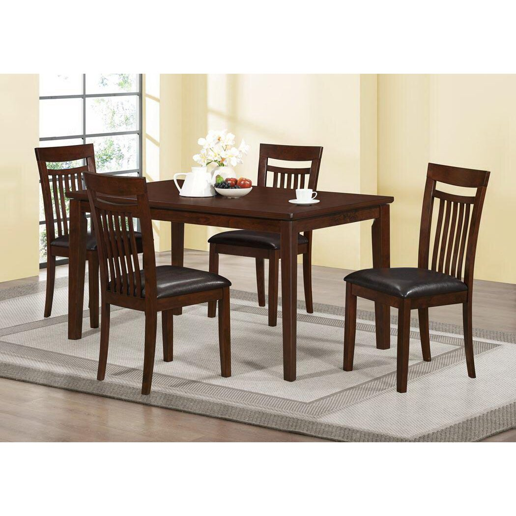 Monarch Specialties White Dining Set With Round Dining: Monarch Specialties Inc. Dining Table