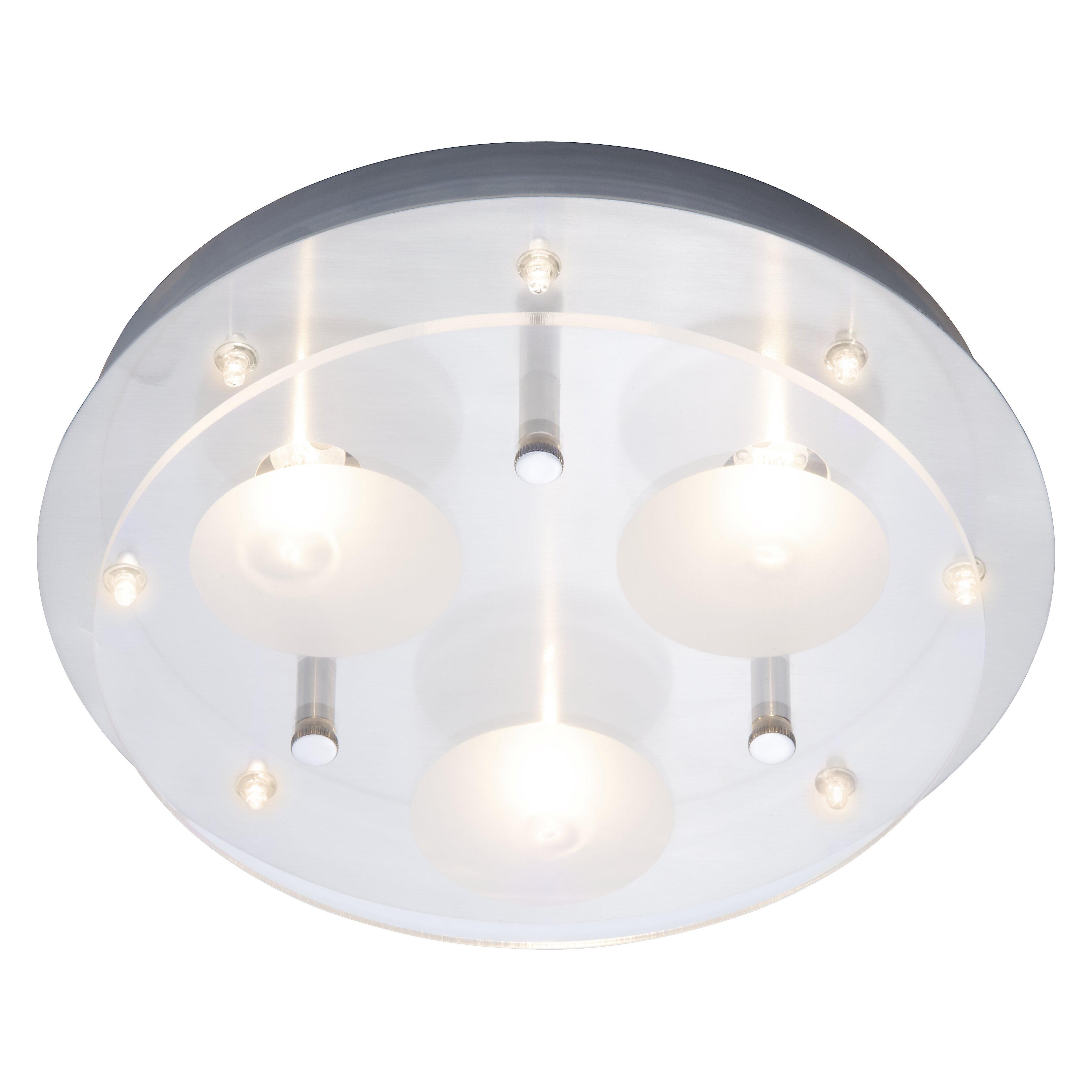 brilliant stars 3 light semi flush ceiling light wayfair uk. Black Bedroom Furniture Sets. Home Design Ideas