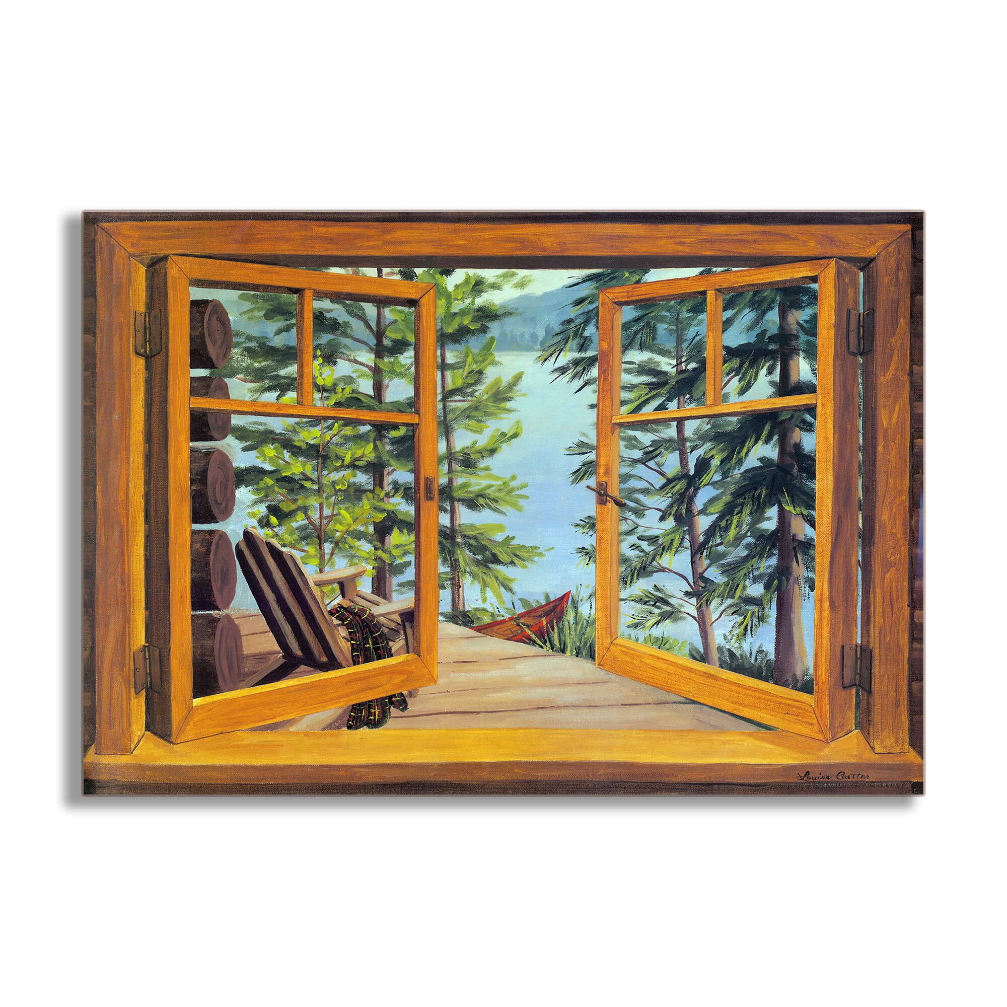 Painting A Scene Through Window Glass