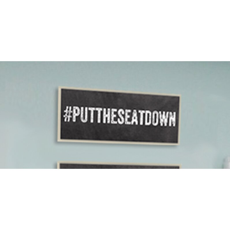 Stupell industries put the seat down hashtag bathroom wall for Bathroom design hashtags