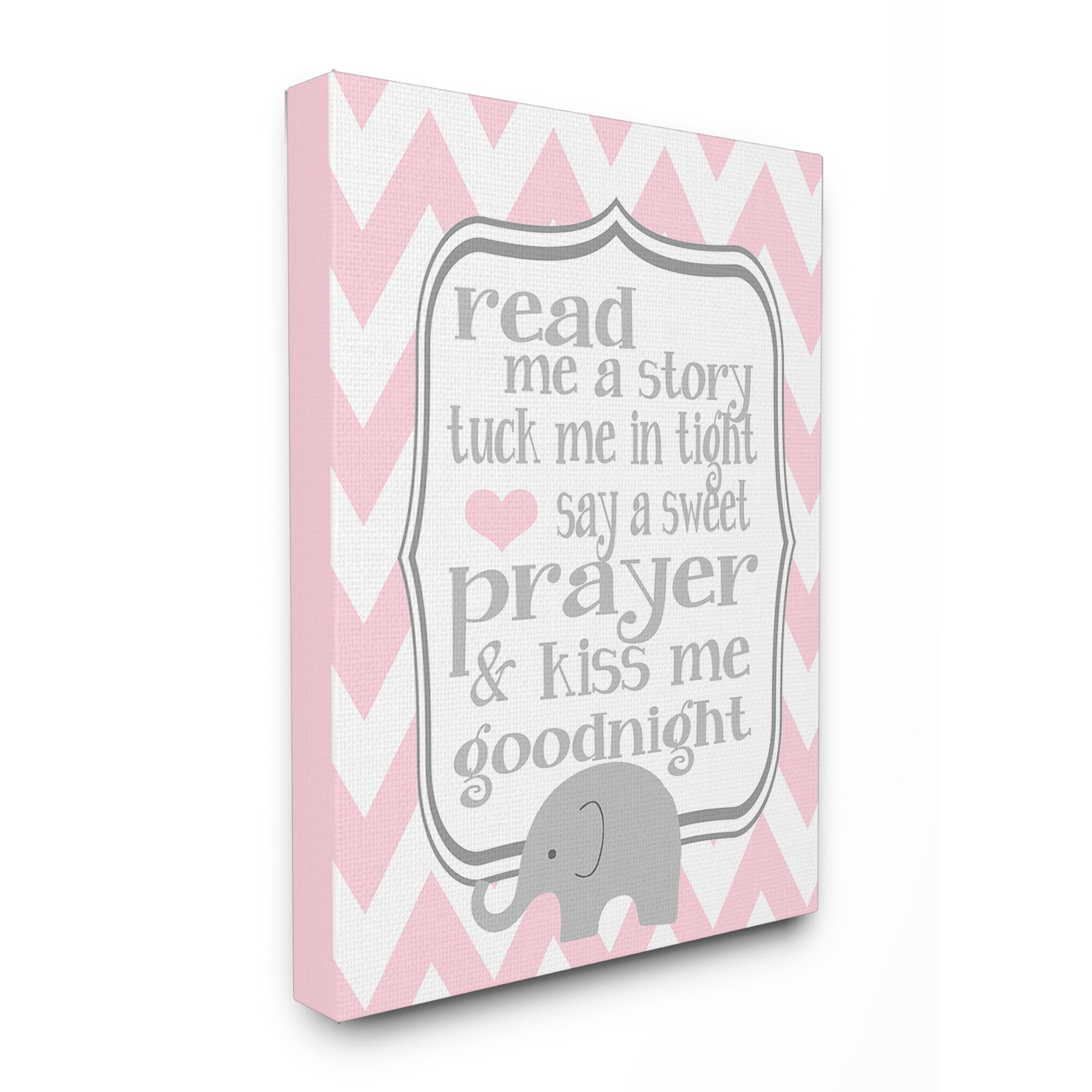 Stupell Industries 'The Kids Room Read Me A Story Elephant