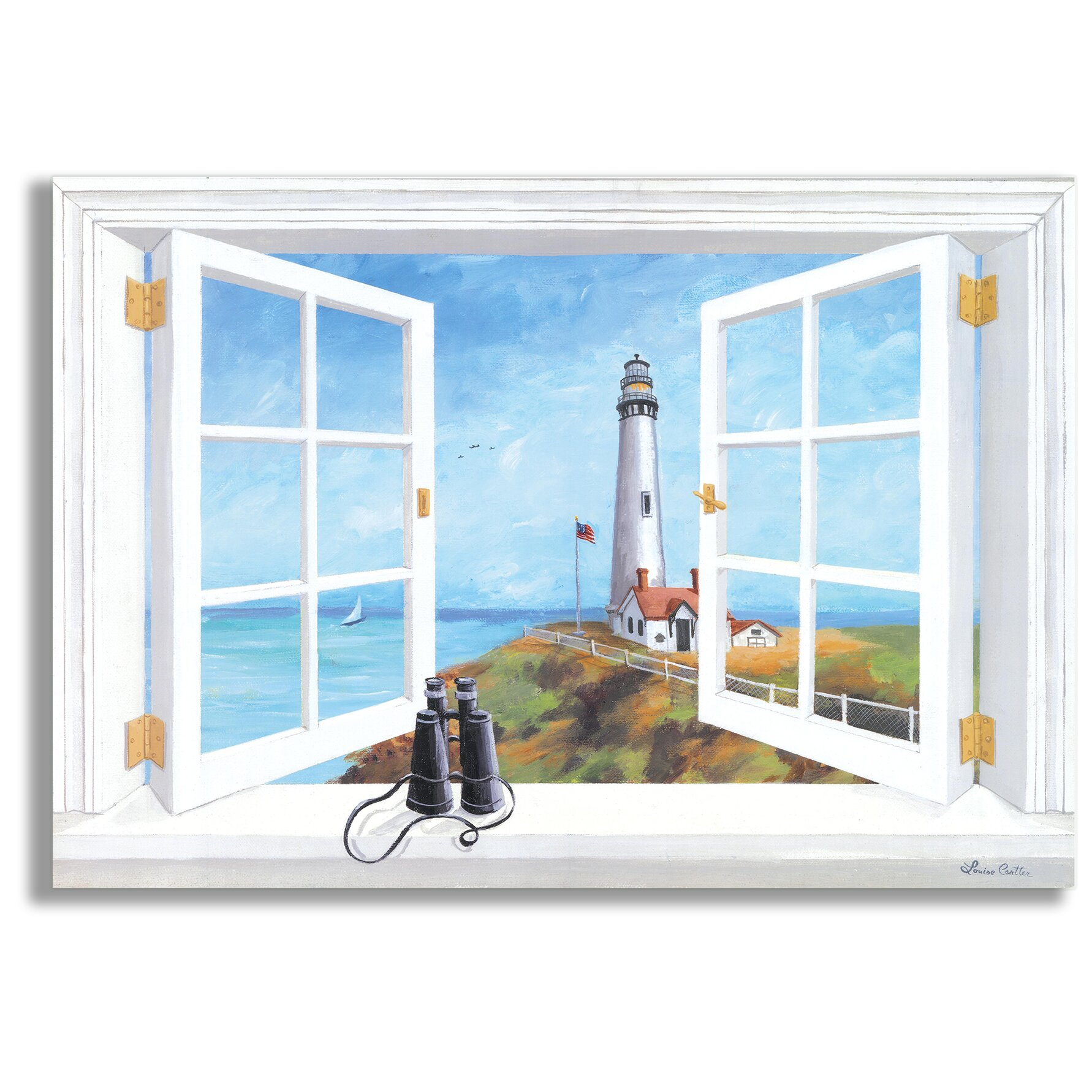 Stupell Industries Pigeon Point Lighthouse Faux Window