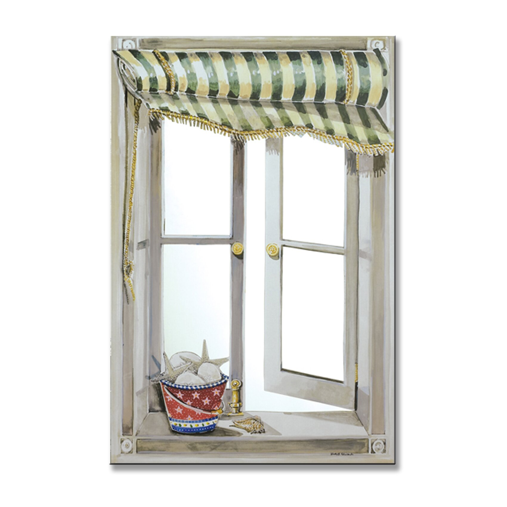 mirrors for bathrooms stupell industries green canopy faux window mirror 13704