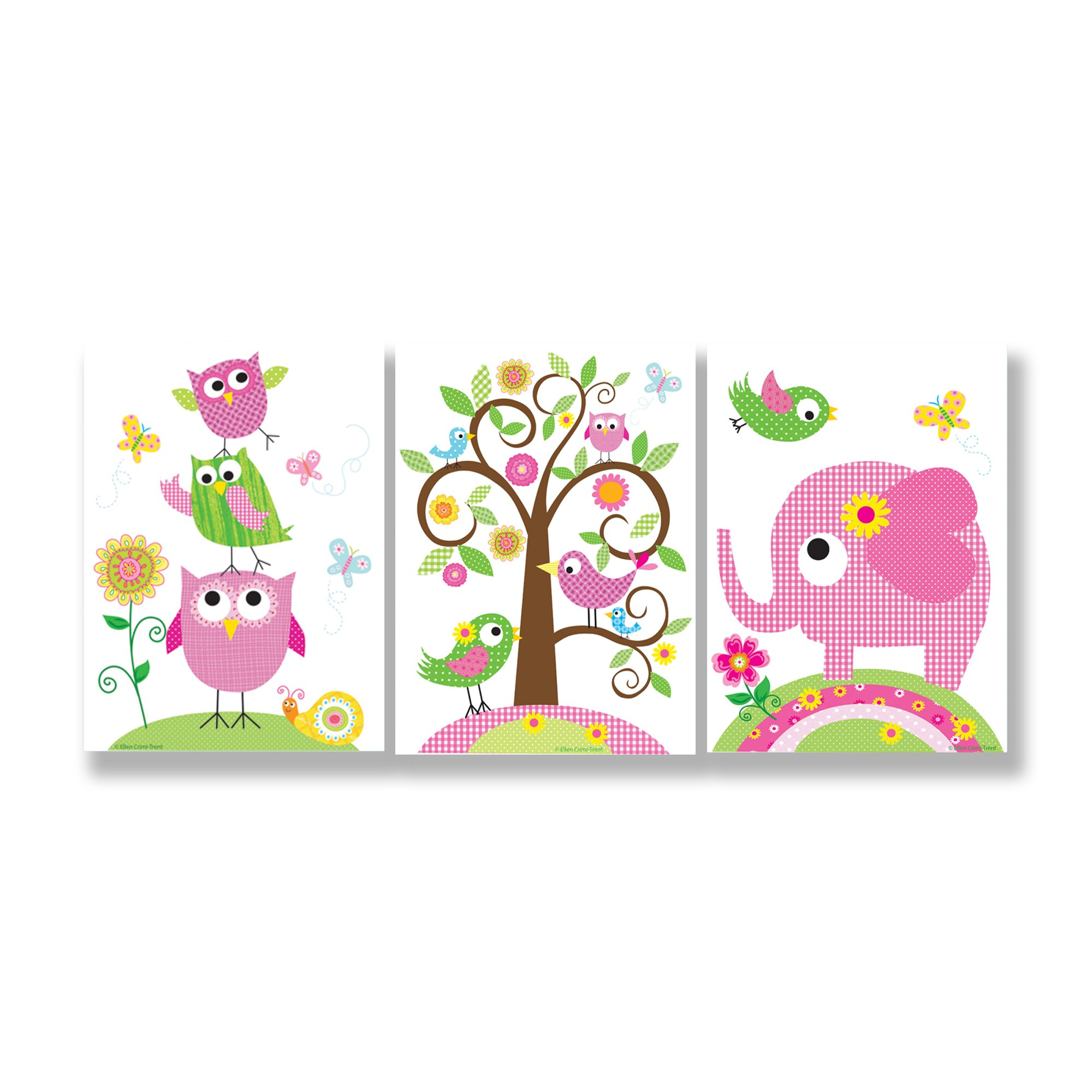 Stupell industries the kids room owls elephants and for Kids room set