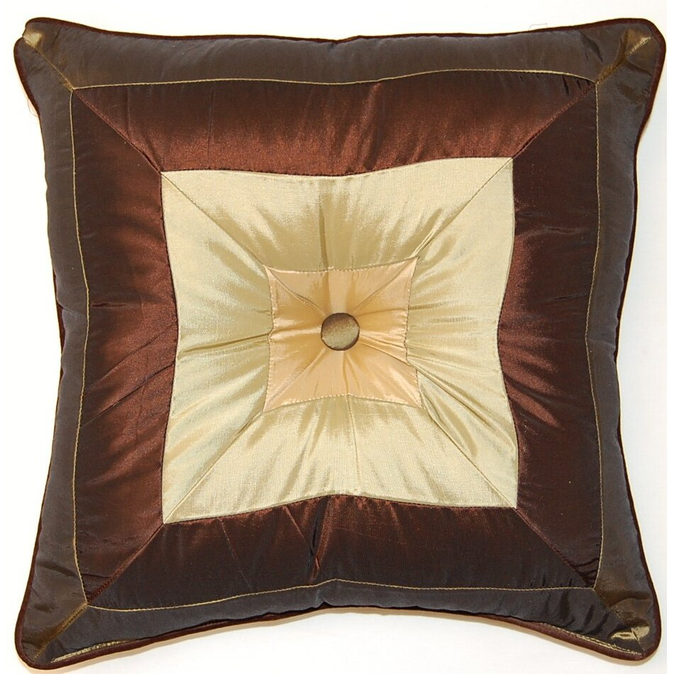 Throw Pillows With Buttons : Creative Home Pieced Squares Button Cord Throw Pillow & Reviews Wayfair