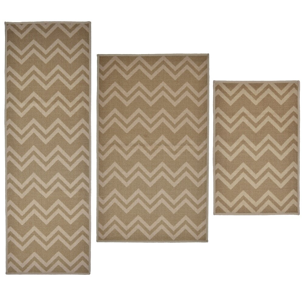 28 area rug set madison home 3 piece chevron sand area rug