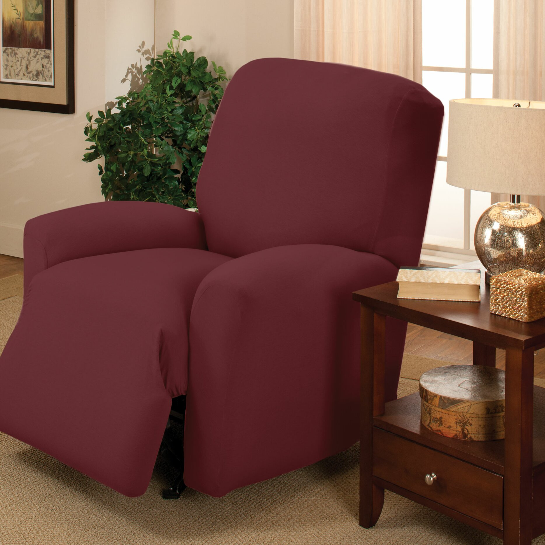 madison home stretch jersey large recliner slipcover