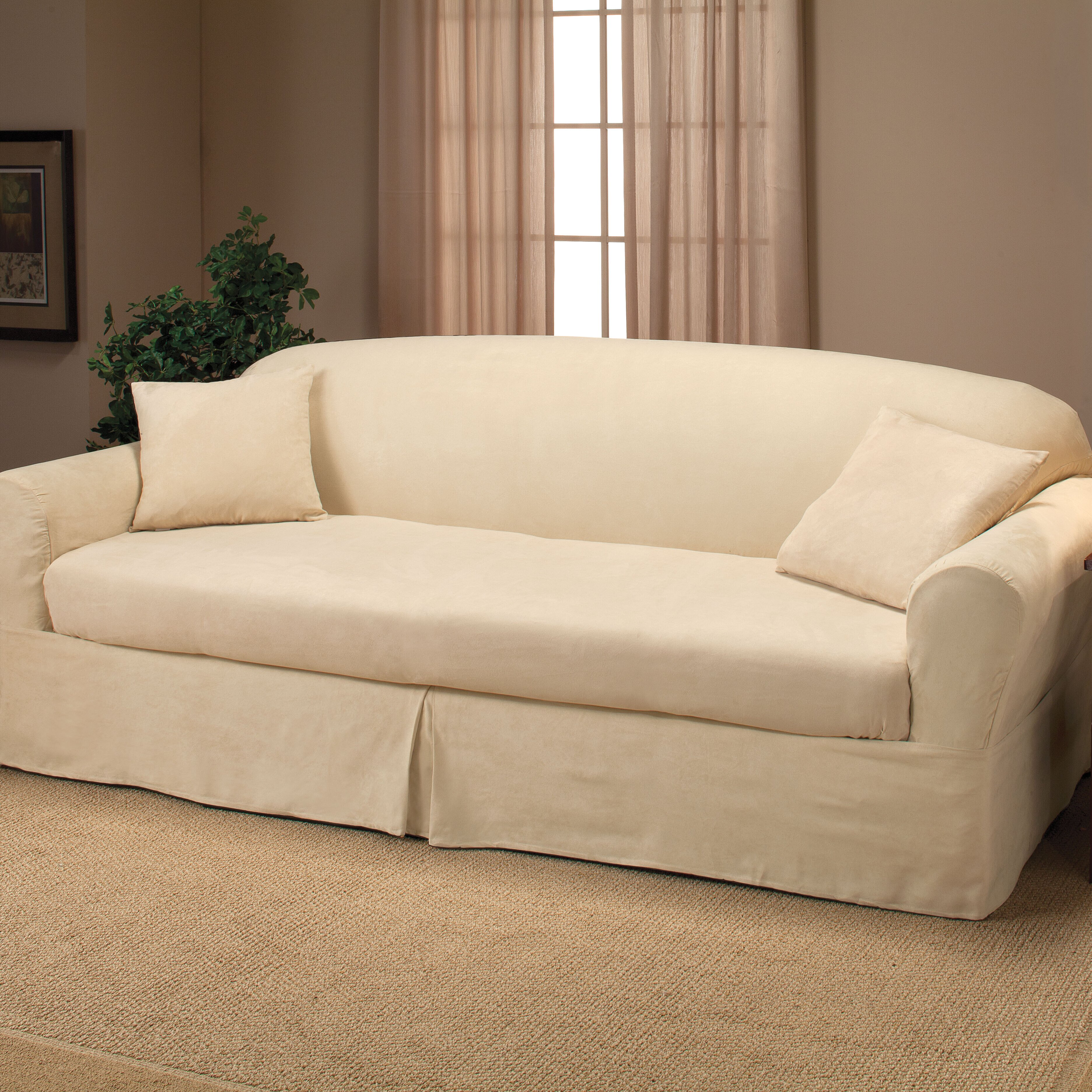 Madison Home Microsuede 2-Piece Sofa Slipcover & Reviews