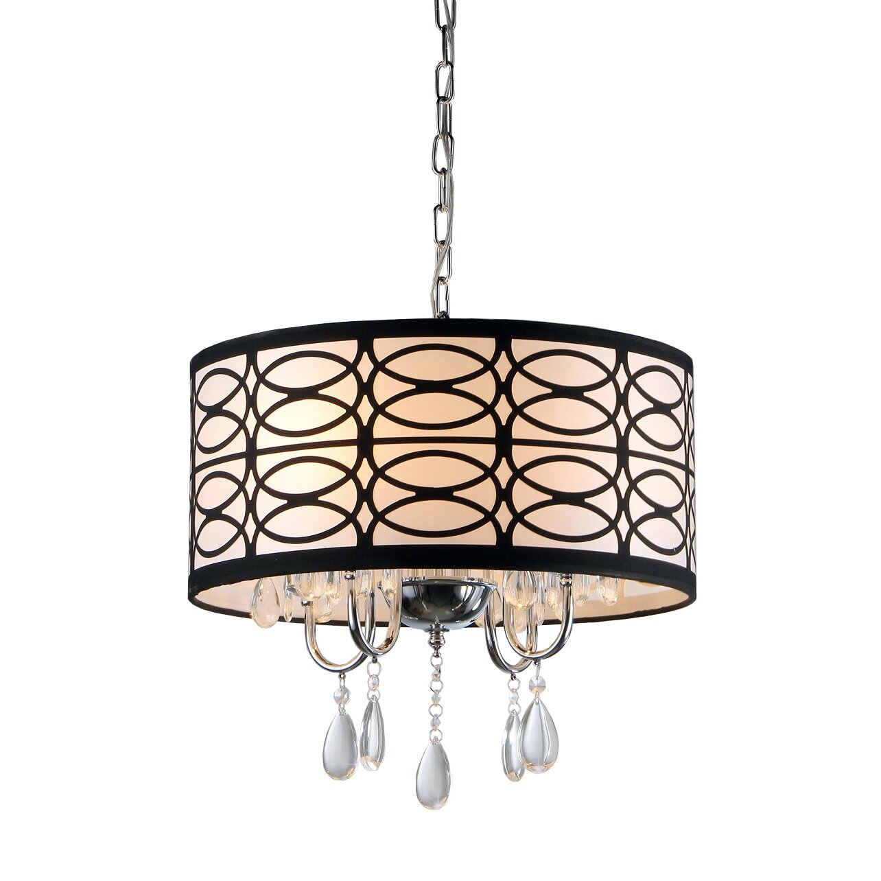 Warehouse Of Tiffany Cecilia 4 Light Drum Chandelier