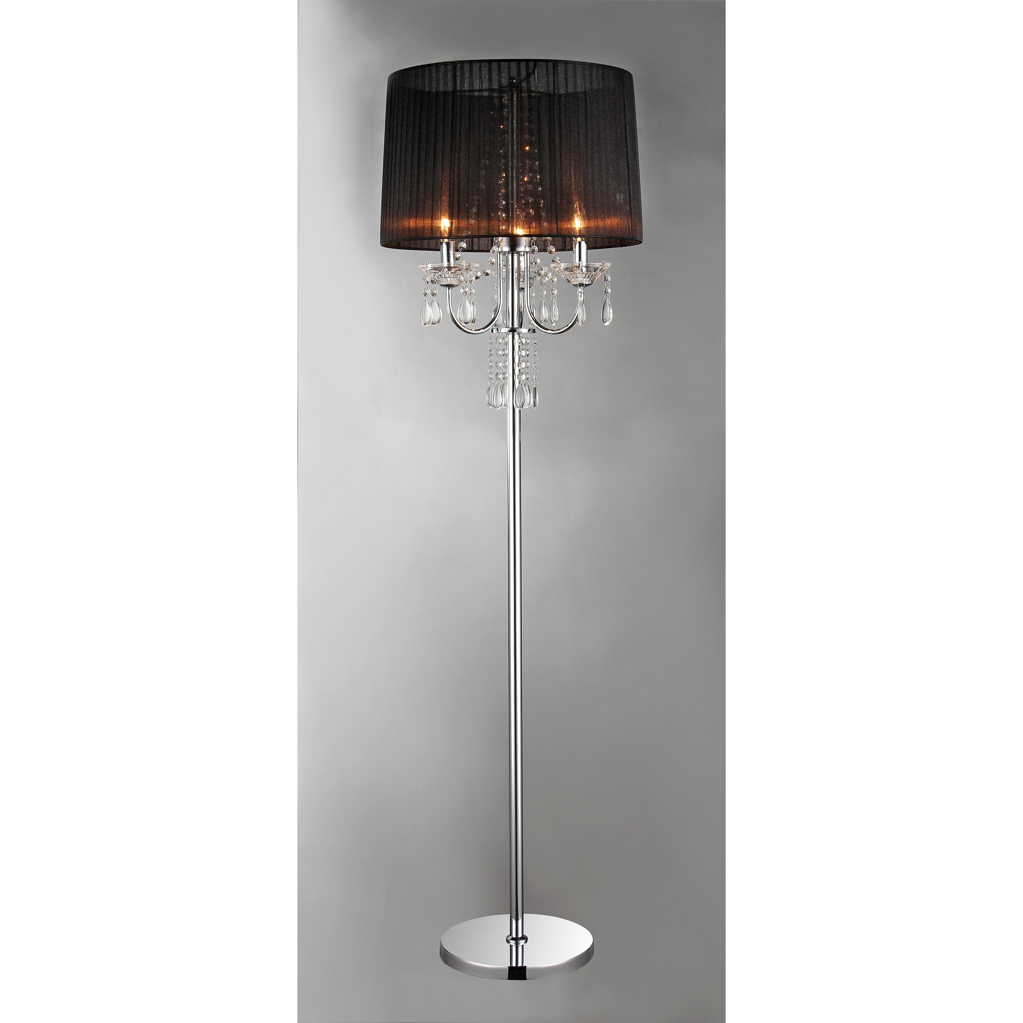 Warehouse of tiffany crystal 58quot floor lamp reviews for Cortona 3 light crystal floor lamp