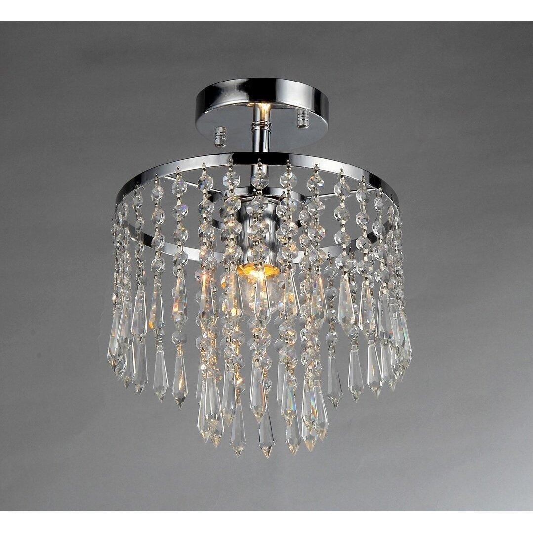 Warehouse Of Tiffany Seek 1 Light Mini Crystal Chandelier