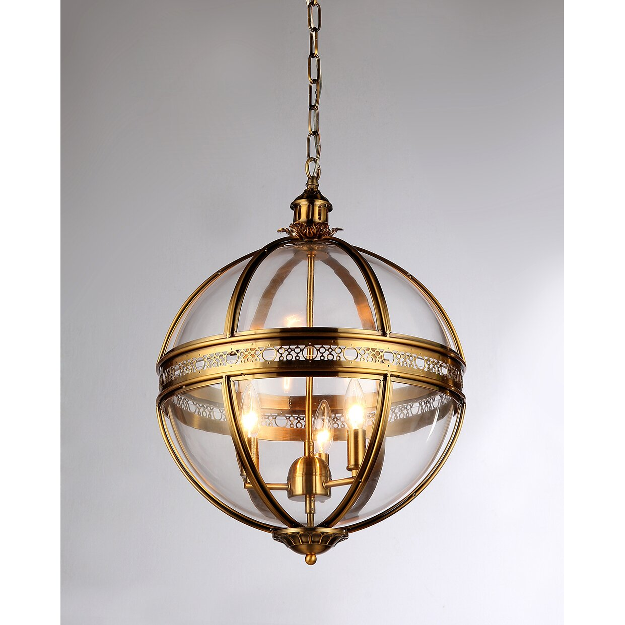 Warehouse Of Tiffany 3 Light Candle-Style Chandelier