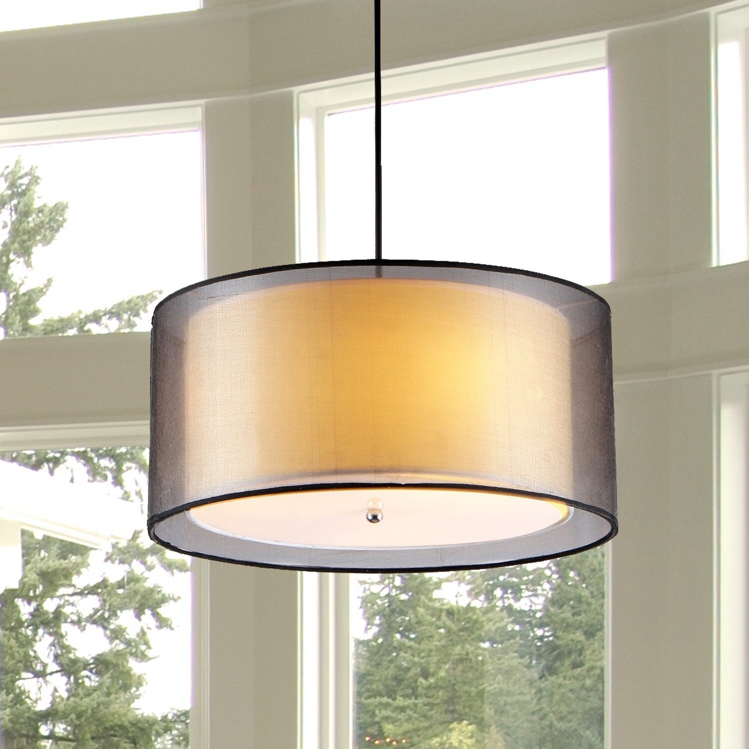 Warehouse Of Tiffany 3 Light Drum Chandelier & Reviews