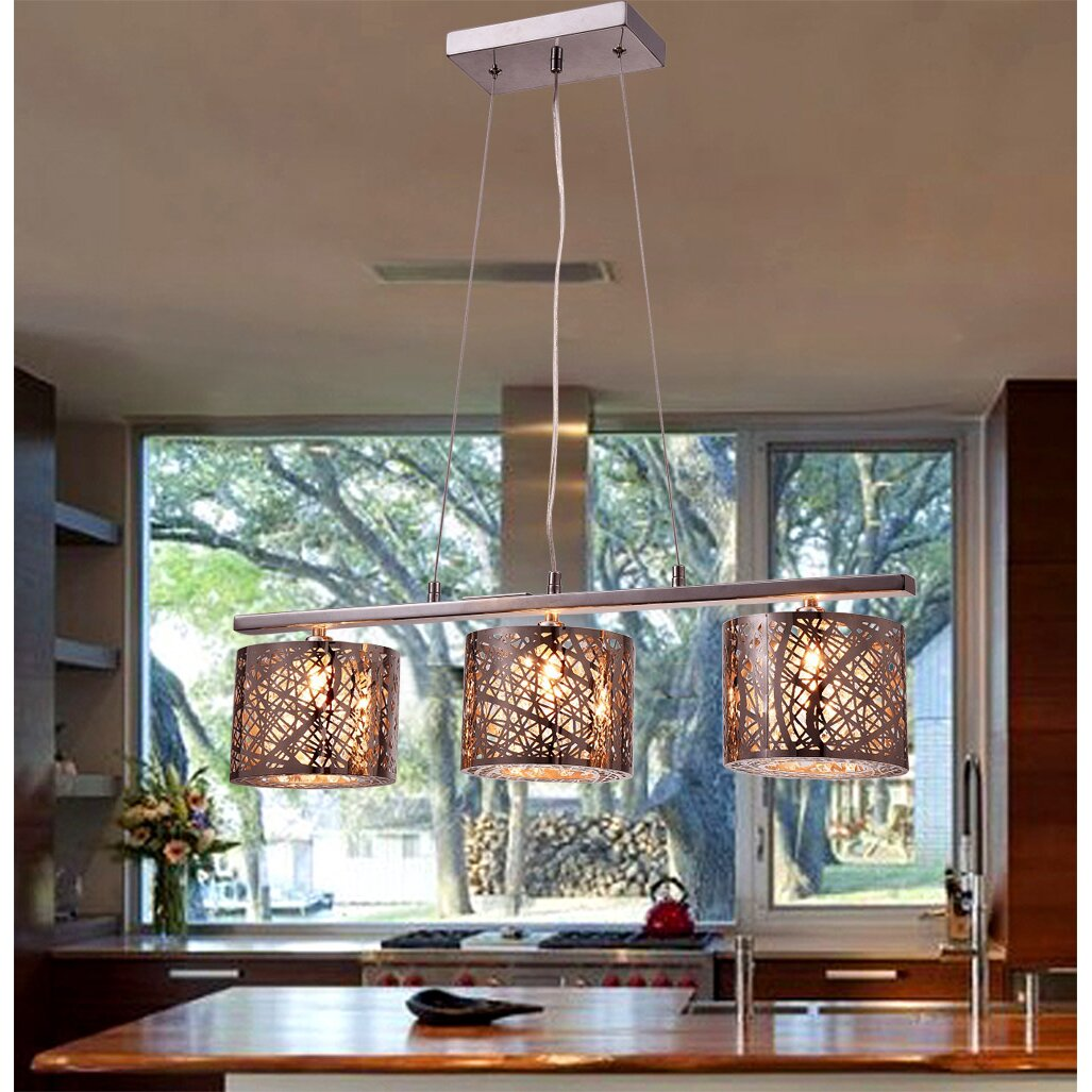 Warehouse Of Tiffany Avery 3 Light Kitchen Island Pendant