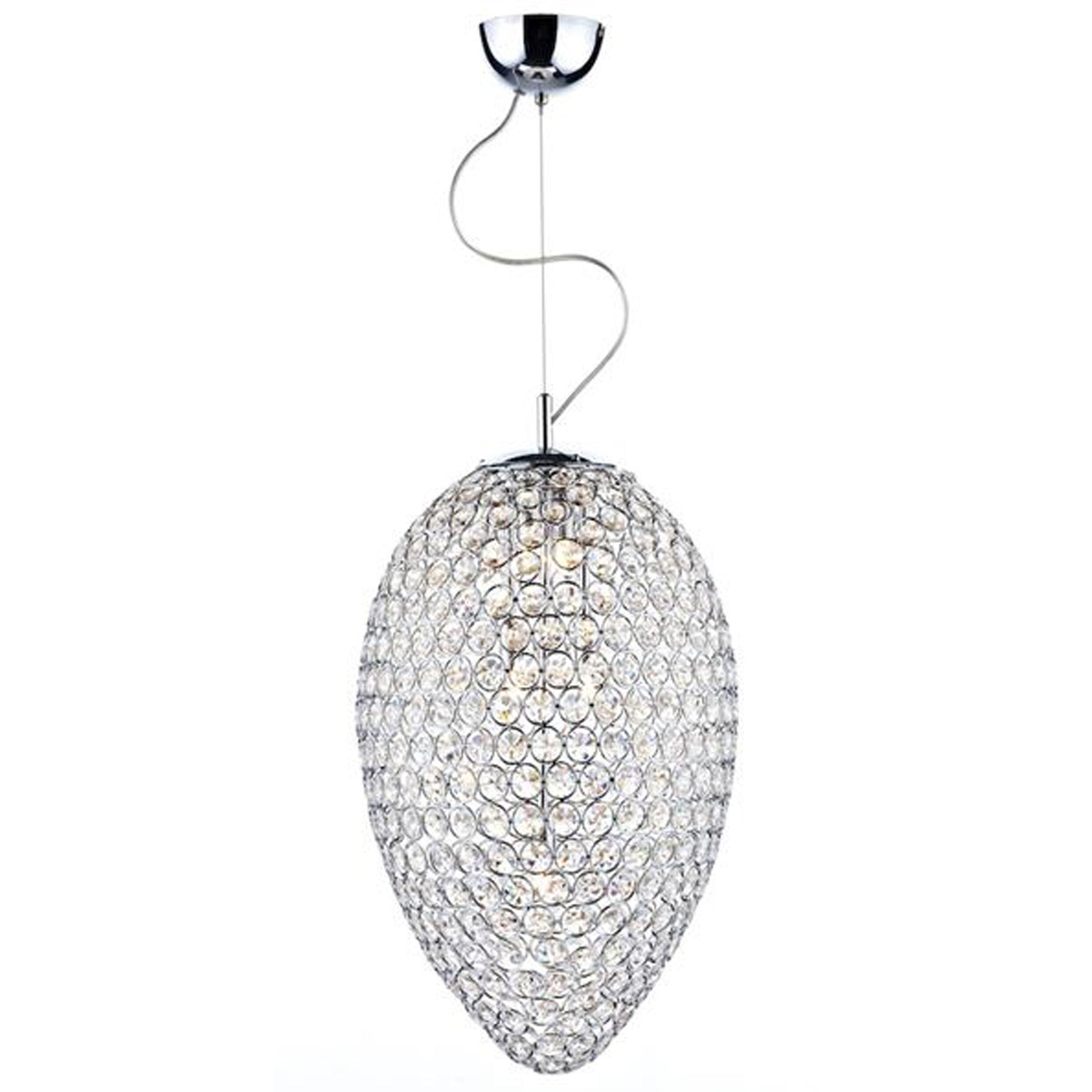 Warehouse of tiffany orai 5 light crystal chandelier Warehouse of tiffany