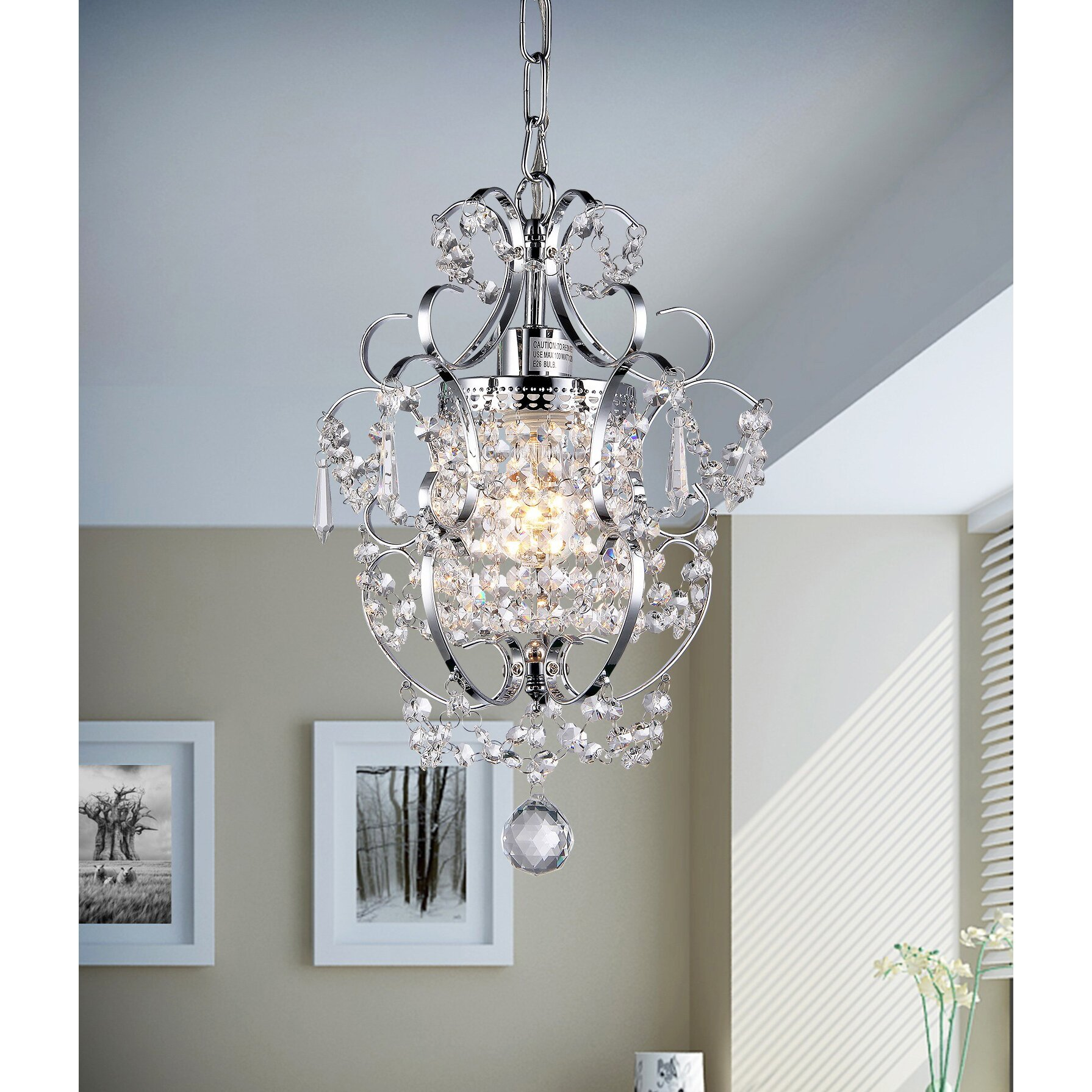 Wayfair Chandelier: Warehouse Of Tiffany Princess 1 Light Crystal Chandelier