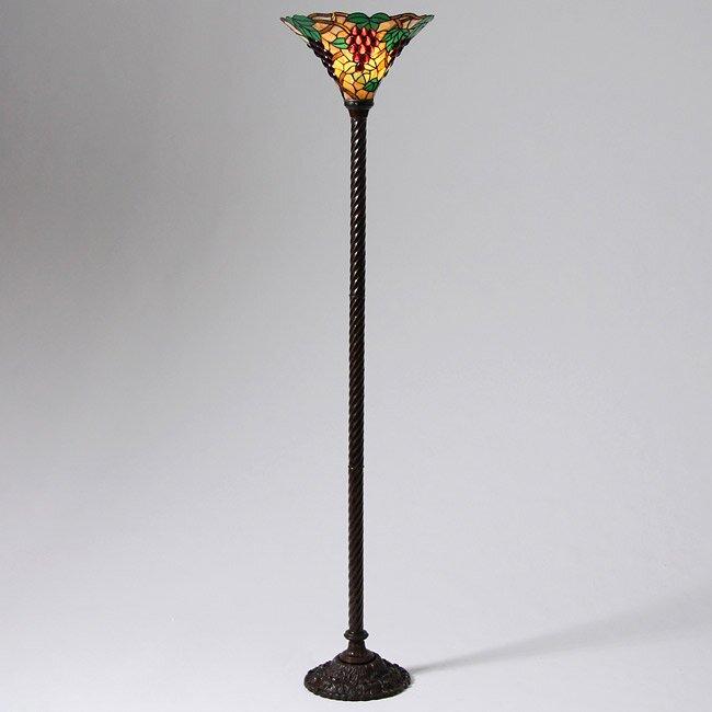 Warehouse of Tiffany Grape 72u0026quot; Torchiere Floor Lamp : Wayfair.ca