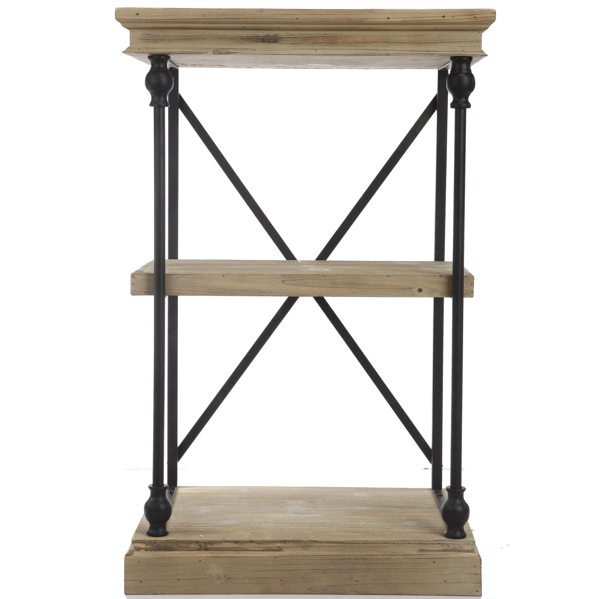 a b home wood and metal low 32 etagere bookcase reviews wayfair. Black Bedroom Furniture Sets. Home Design Ideas