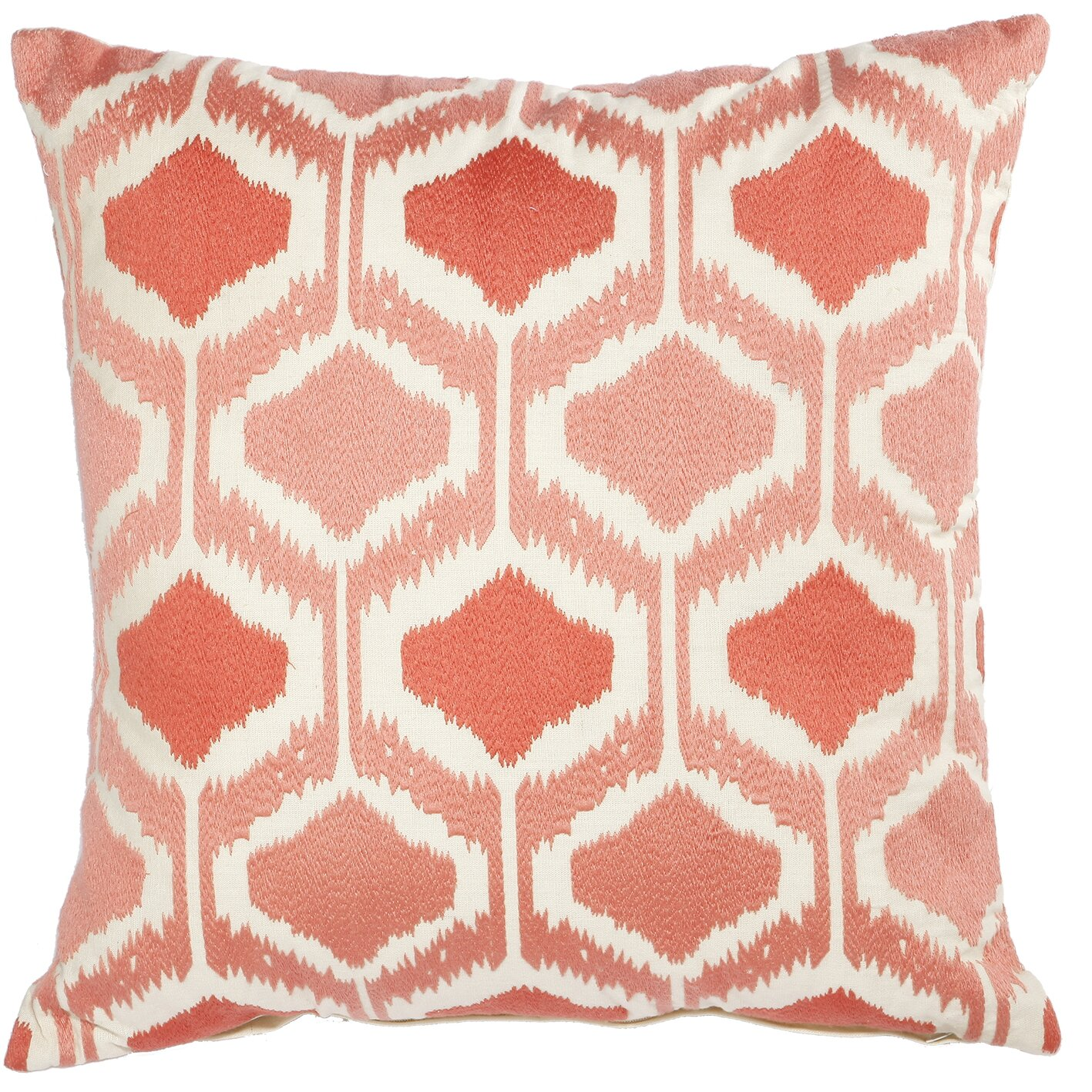 Coral Bed Throw Pillows : A&B Home Mila Pillow in Coral & Reviews Wayfair