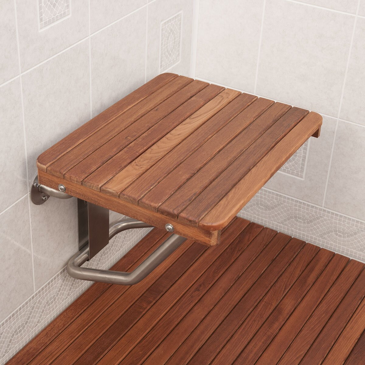 Teakworks4u Teak Shower Transfer Bench Seat Reviews Wayfair