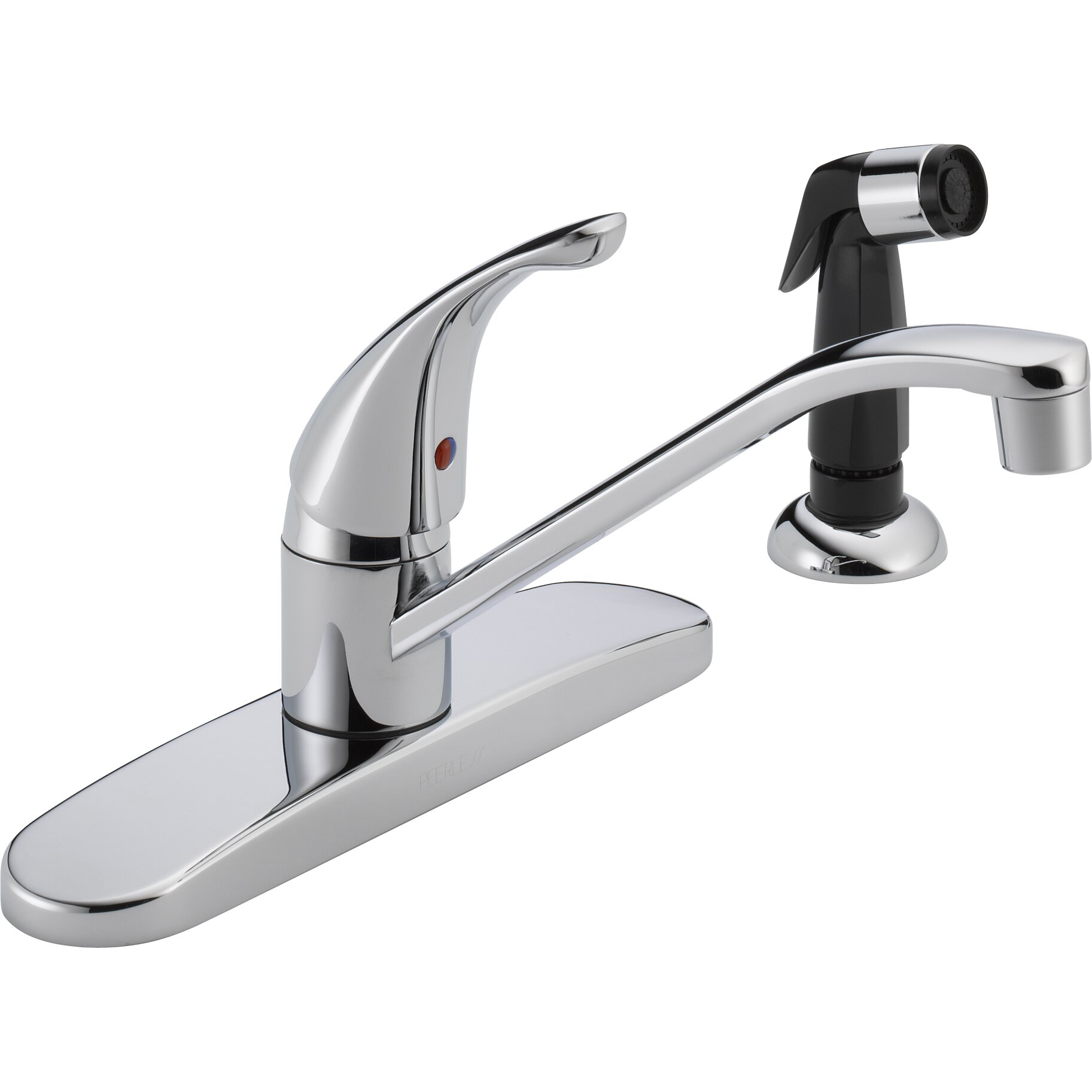 Peerless Faucets Single Handle Centerset Kitchen Faucet With Side Spray Reviews Wayfair