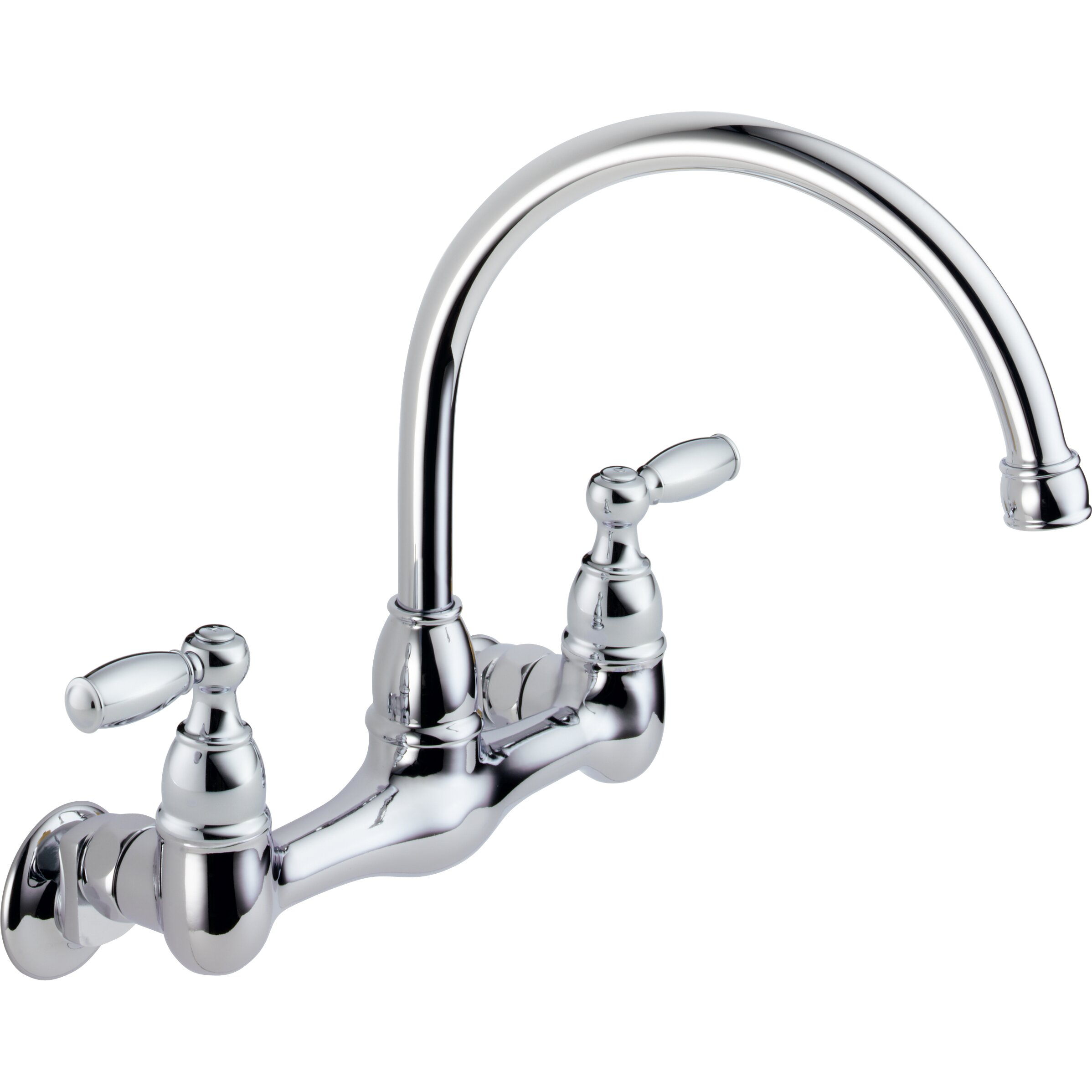 Two Handle Kitchen Faucet: Peerless Faucets Two Handle Wall Mounted Kitchen Faucet