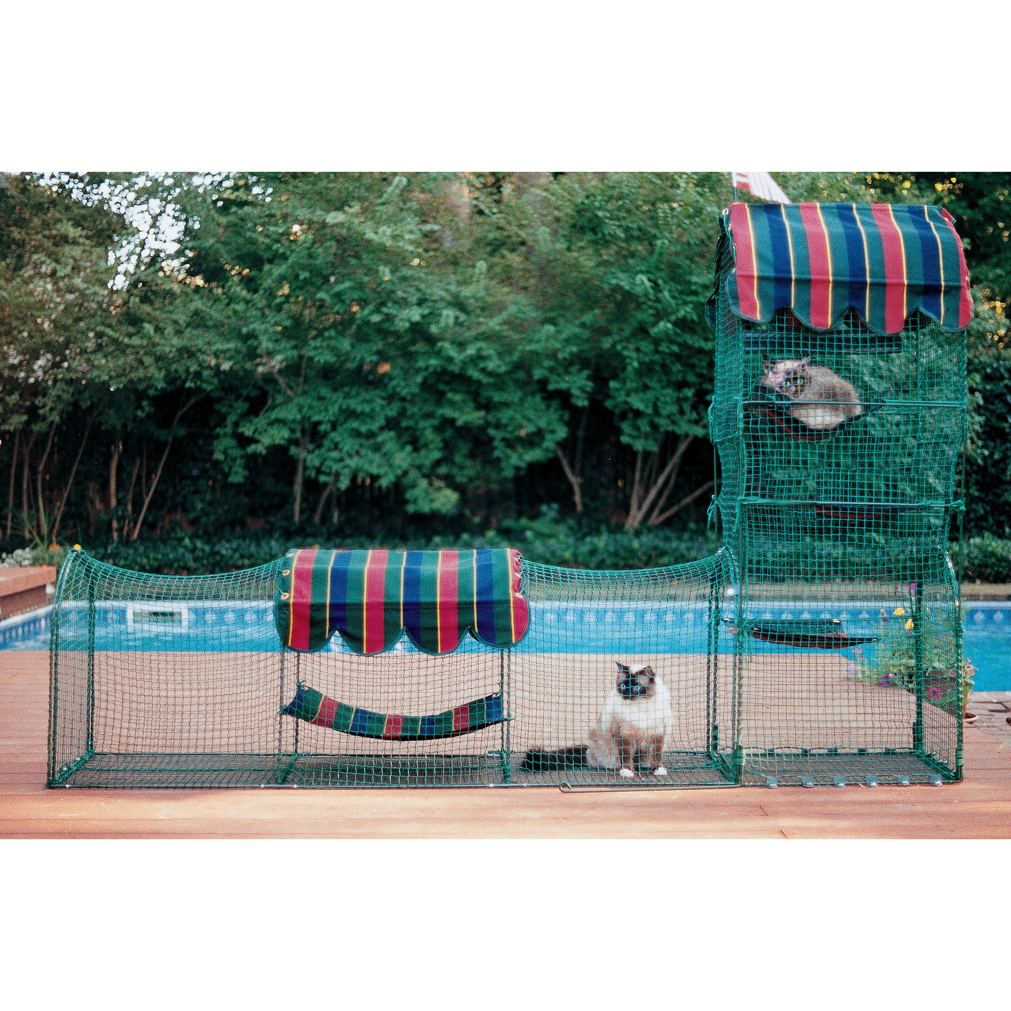 Patio Netting For Cats: Kittywalk Systems Town & Country Outdoor Pet Playpen