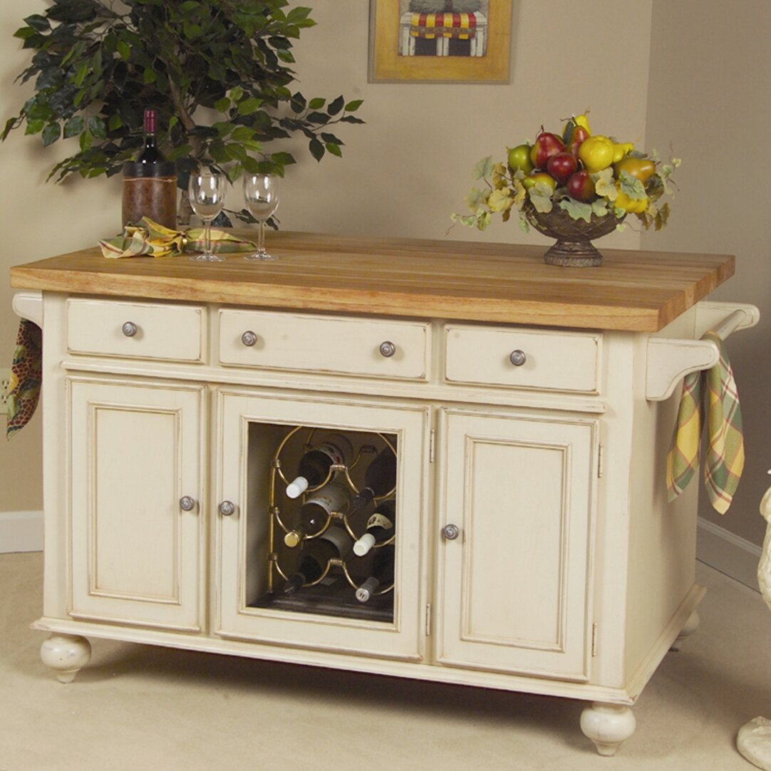 kitchen island butcher block top kaco signature kitchen island with butcher block top 8146