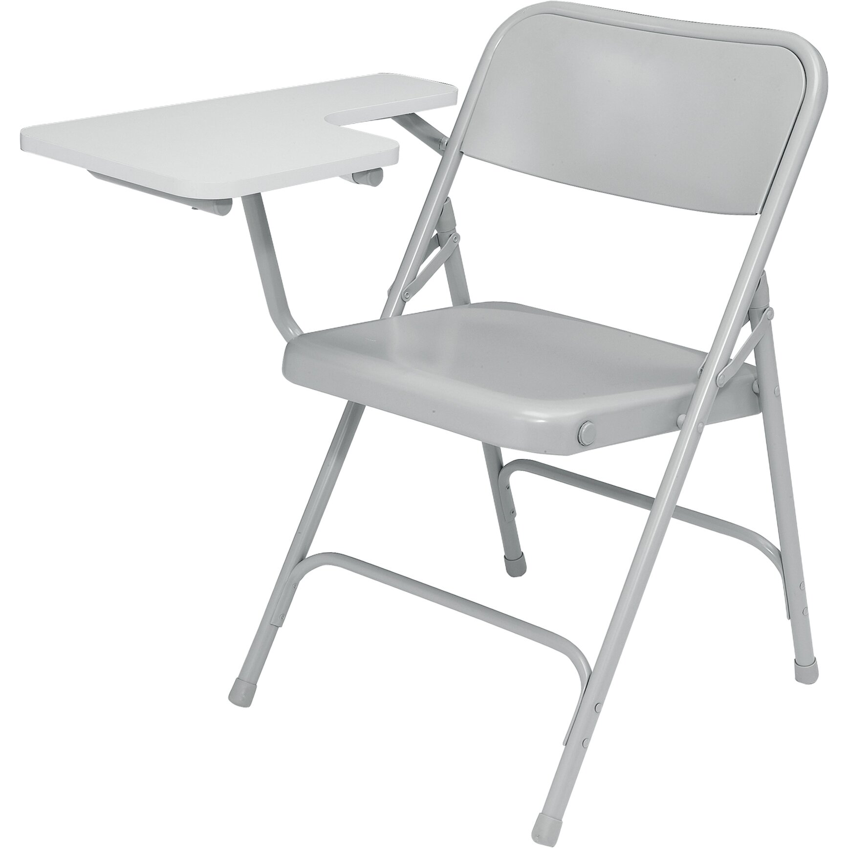 National Public Seating 5200 Series Steel Folding Chair with Tablet Arm &