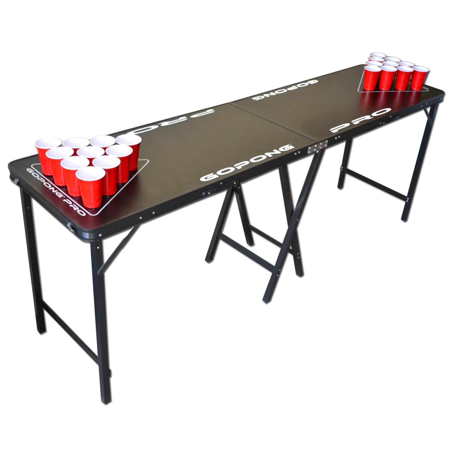 Gopong pro 8 39 premium beer pong table for bars reviews wayfair - Professional beer pong table ...