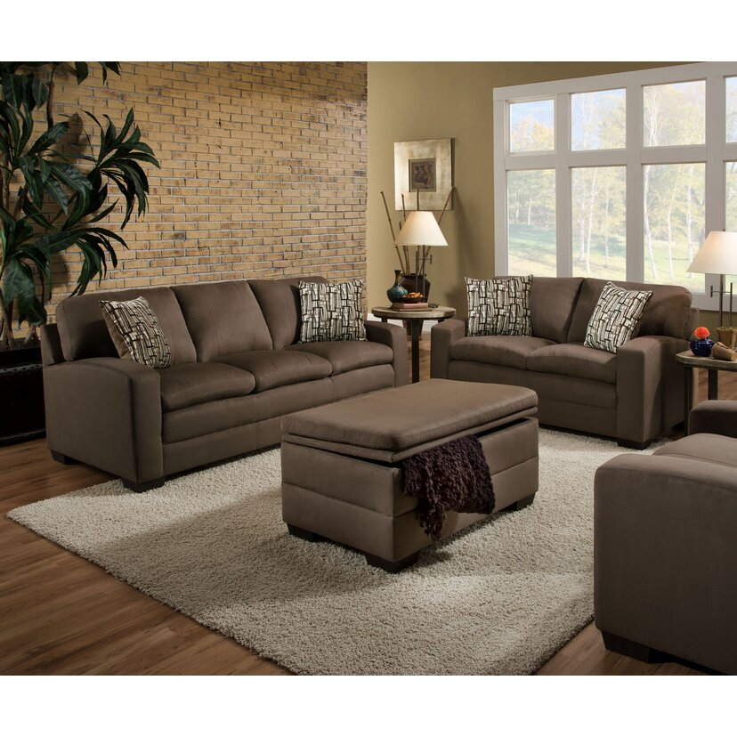 Simmons upholstery velocity sofa reviews wayfair for Simmons living room furniture
