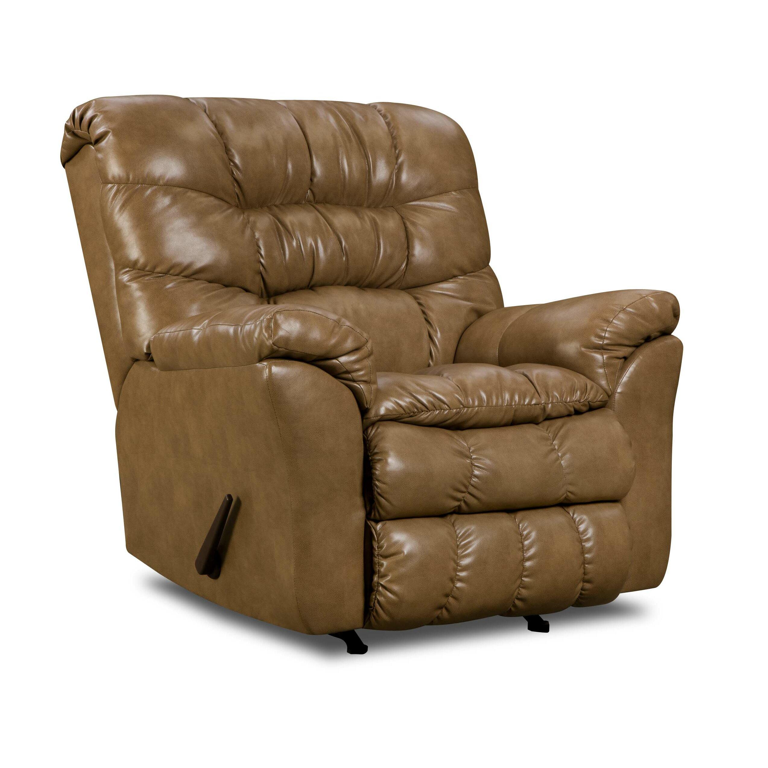 Simmons Upholstery Riverside Bonded Leather Rocker