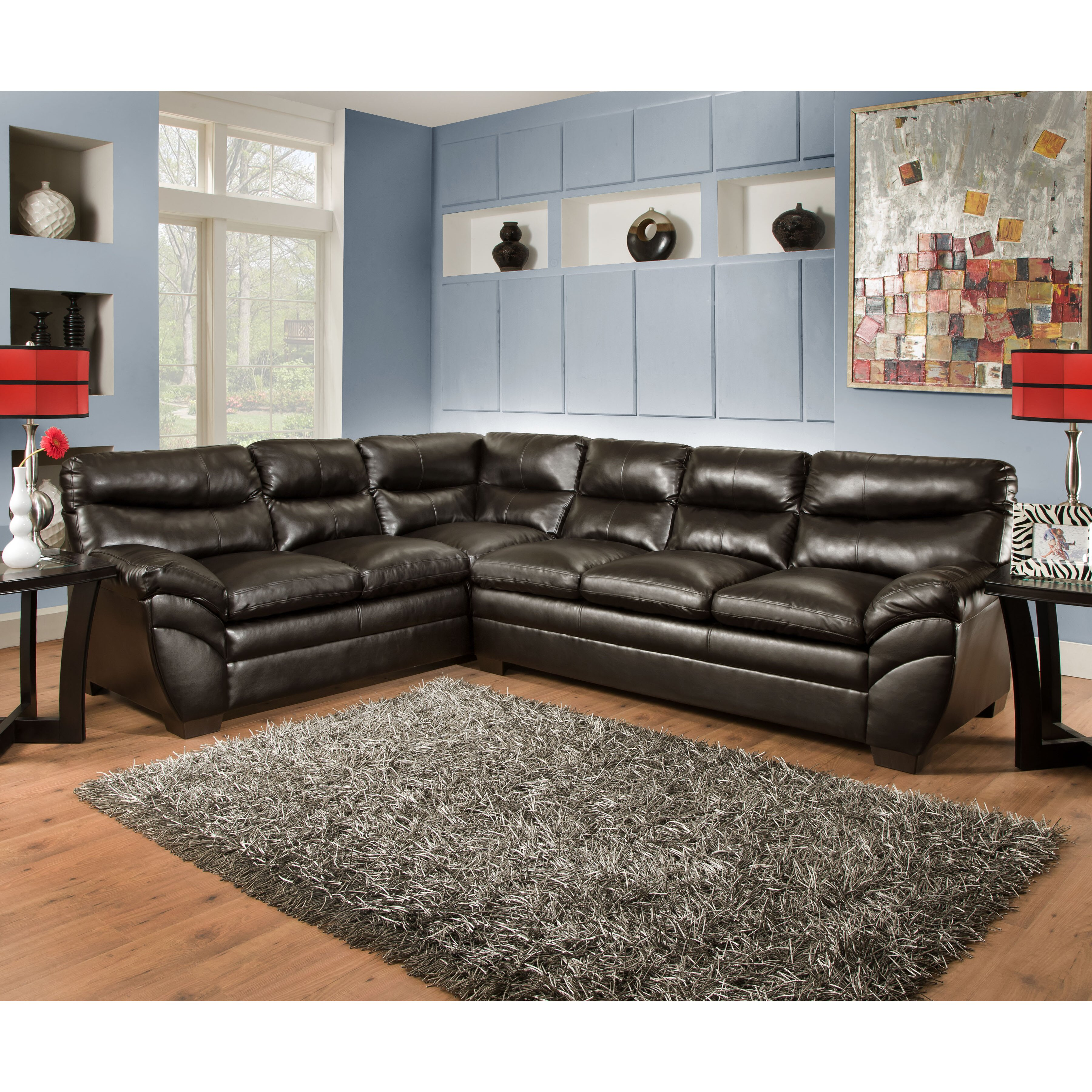 Simmons upholstery soho sectional reviews wayfair for Simmons upholstery sectional sofa