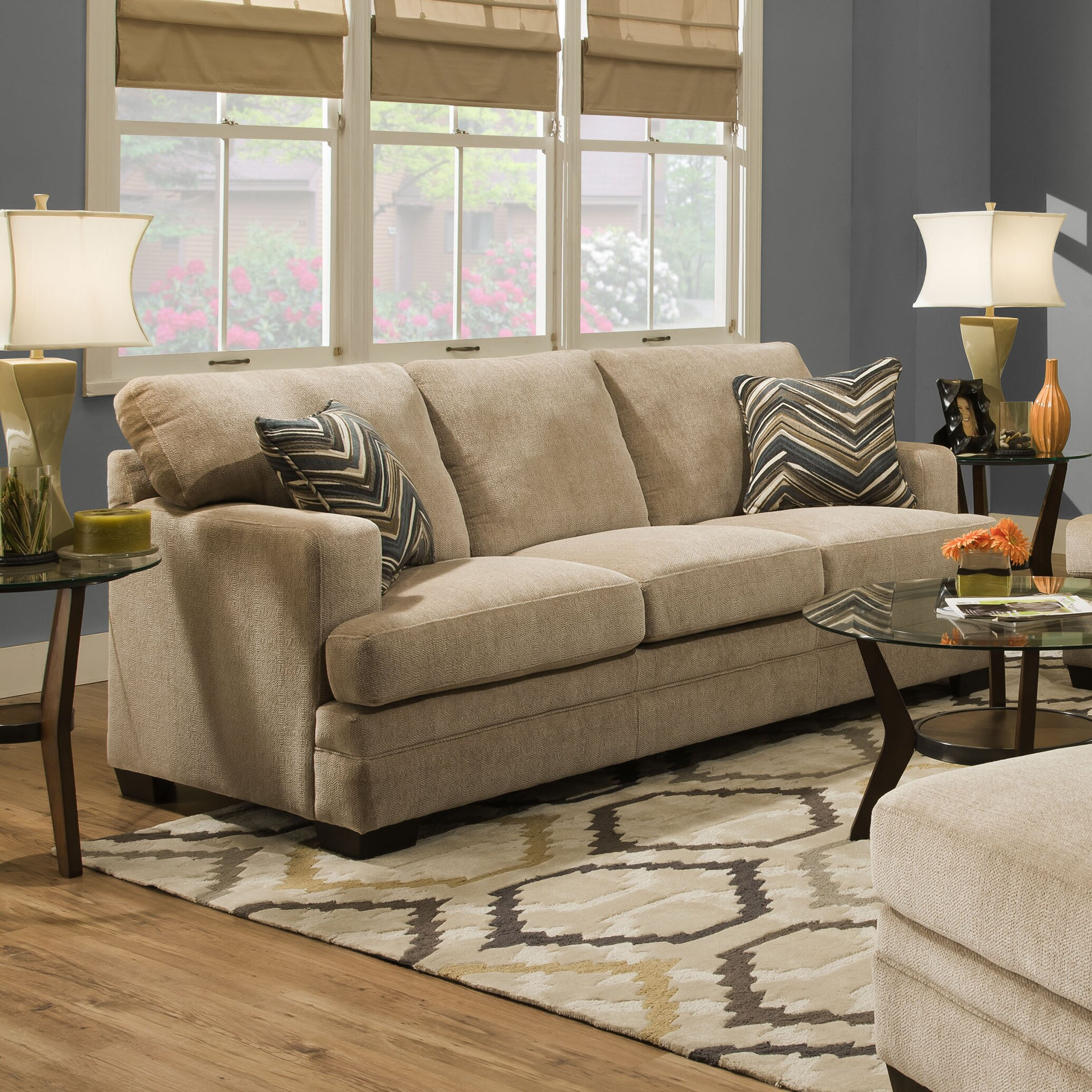 Simmons upholstery sassy barley living room collection for Simmons living room furniture
