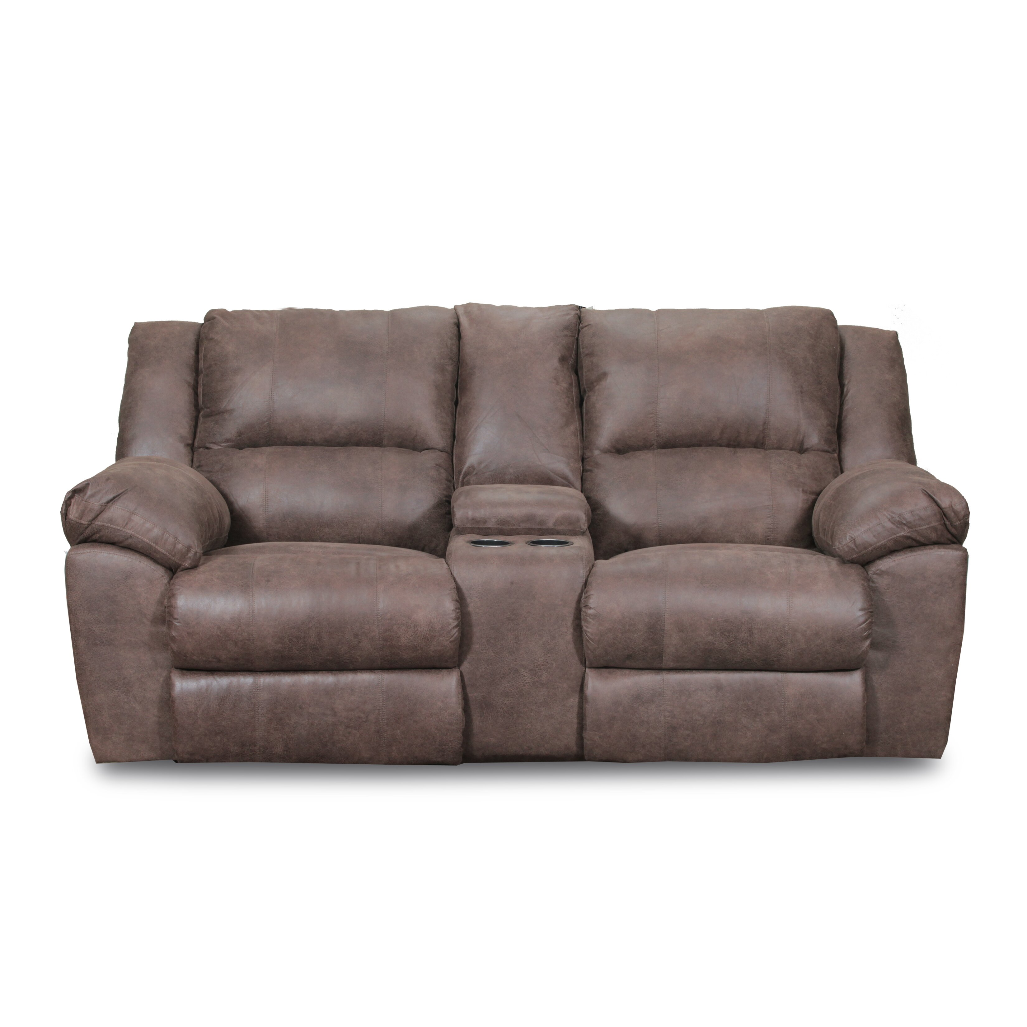 Simmons Upholstery Phoenix Mocha Double Motion Loveseat