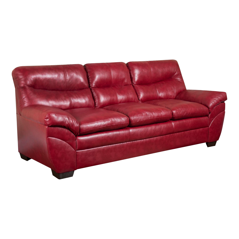 Simmons upholstery soho sofa reviews wayfair for Fake leather upholstery