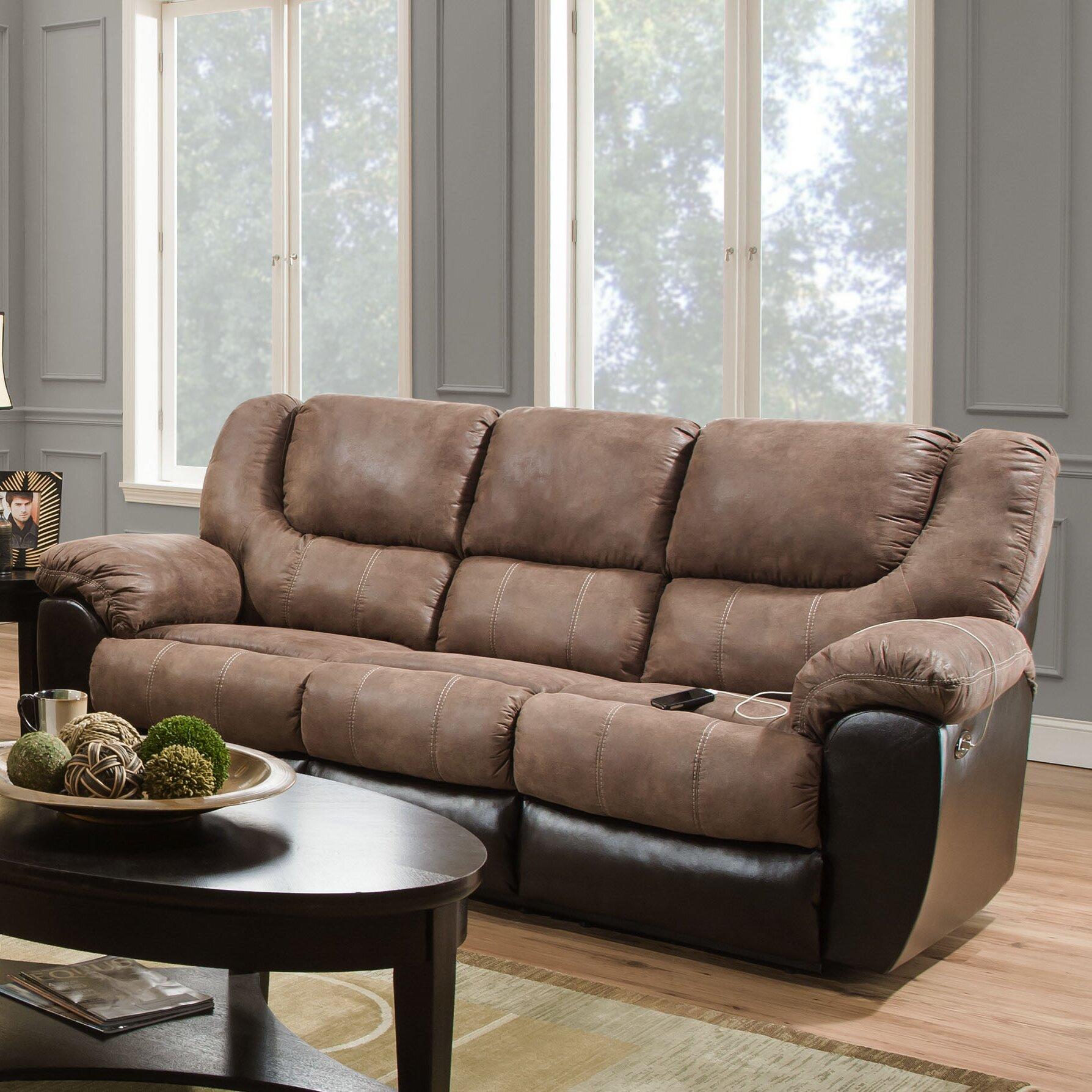 Simmons Upholstery Bandera Reclining Sofa Amp Reviews Wayfair