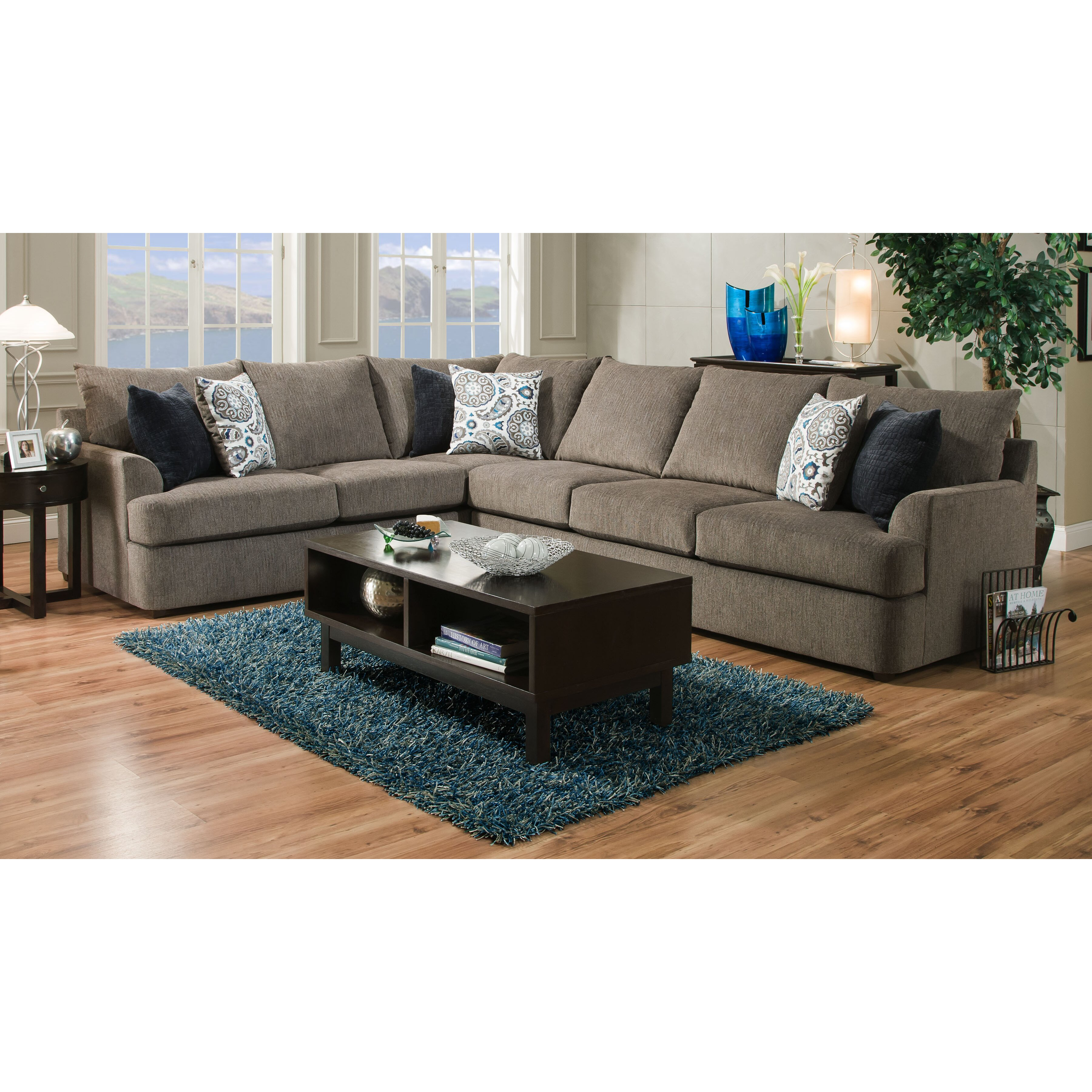Simmons Upholstery Grandstand Sectional Reviews Wayfair