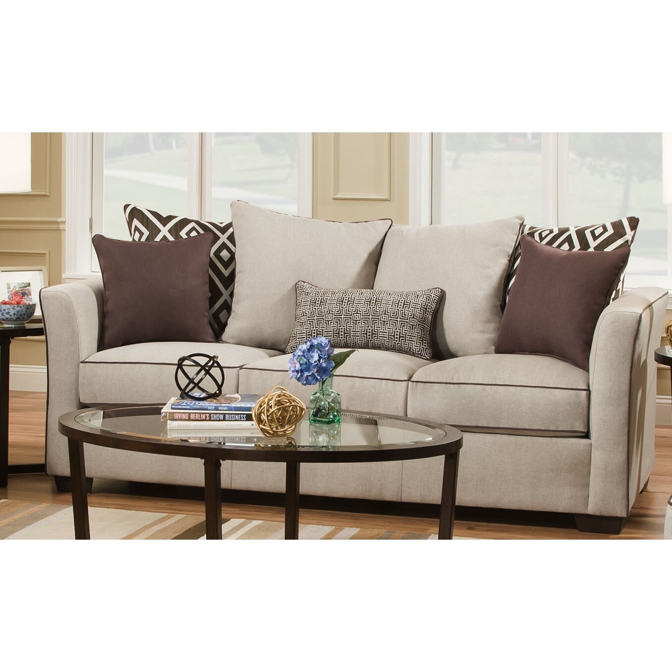 latitude run lila sleeper sofa by simmons upholstery wayfair. Black Bedroom Furniture Sets. Home Design Ideas