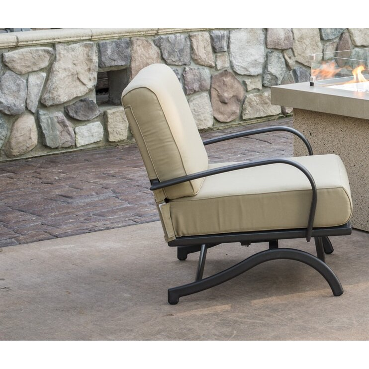 The Outdoor GreatRoom Company Rocking Chair with Cushion & Reviews ...