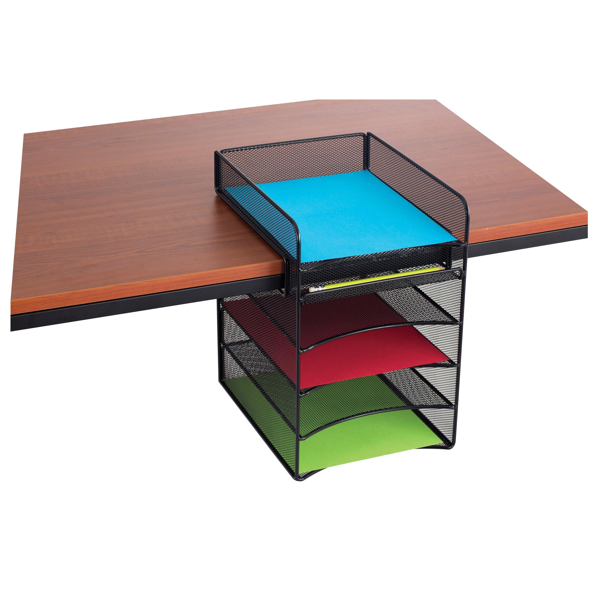Safco Products Onyx Mesh Horizontal Hanging Desk Storage