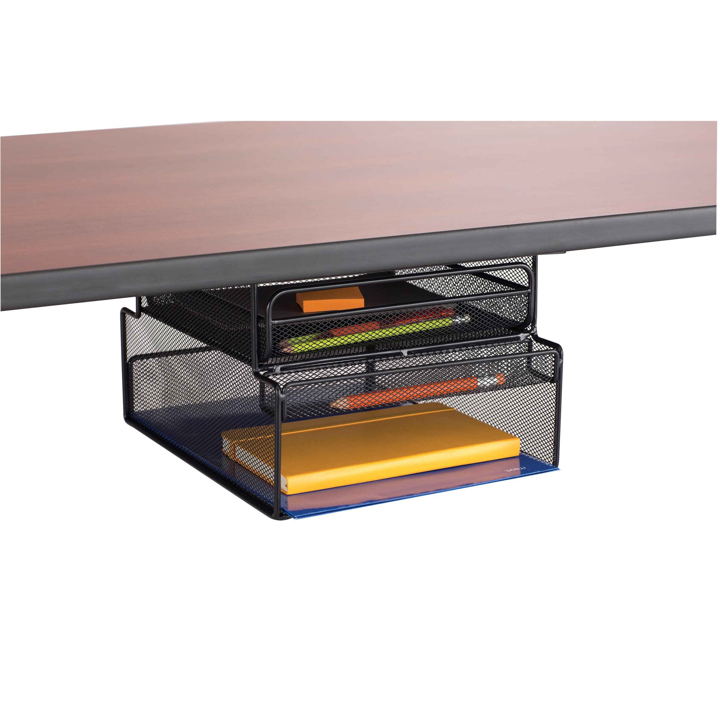 Safco Products Onyx Mesh Mountable Hanging Desk Storage