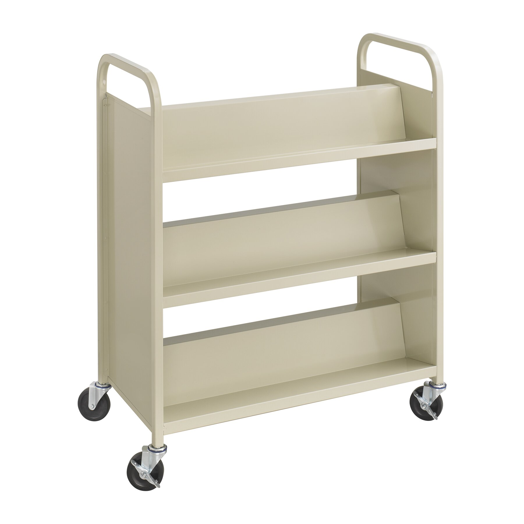 Safco Products Double Sided Book Cart Amp Reviews Wayfair