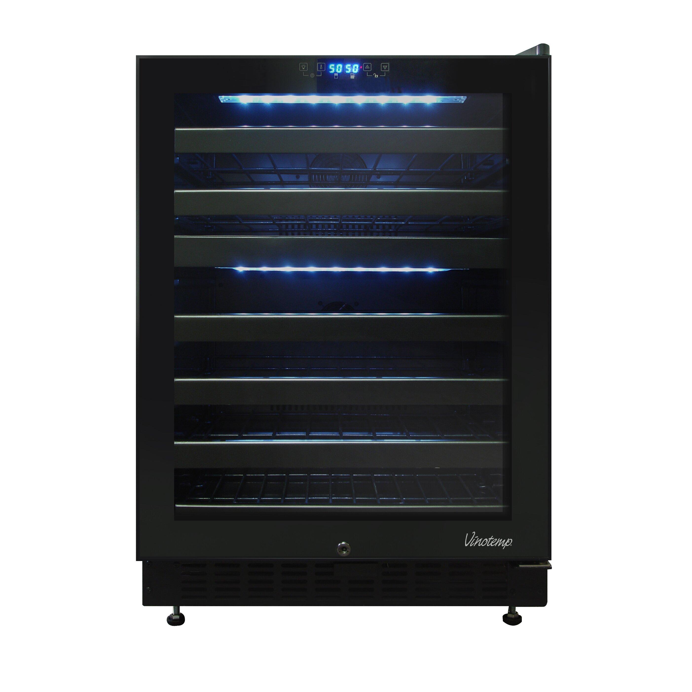 vinotemp 46 bottle dual zone built in wine refrigerator reviews wayfair. Black Bedroom Furniture Sets. Home Design Ideas