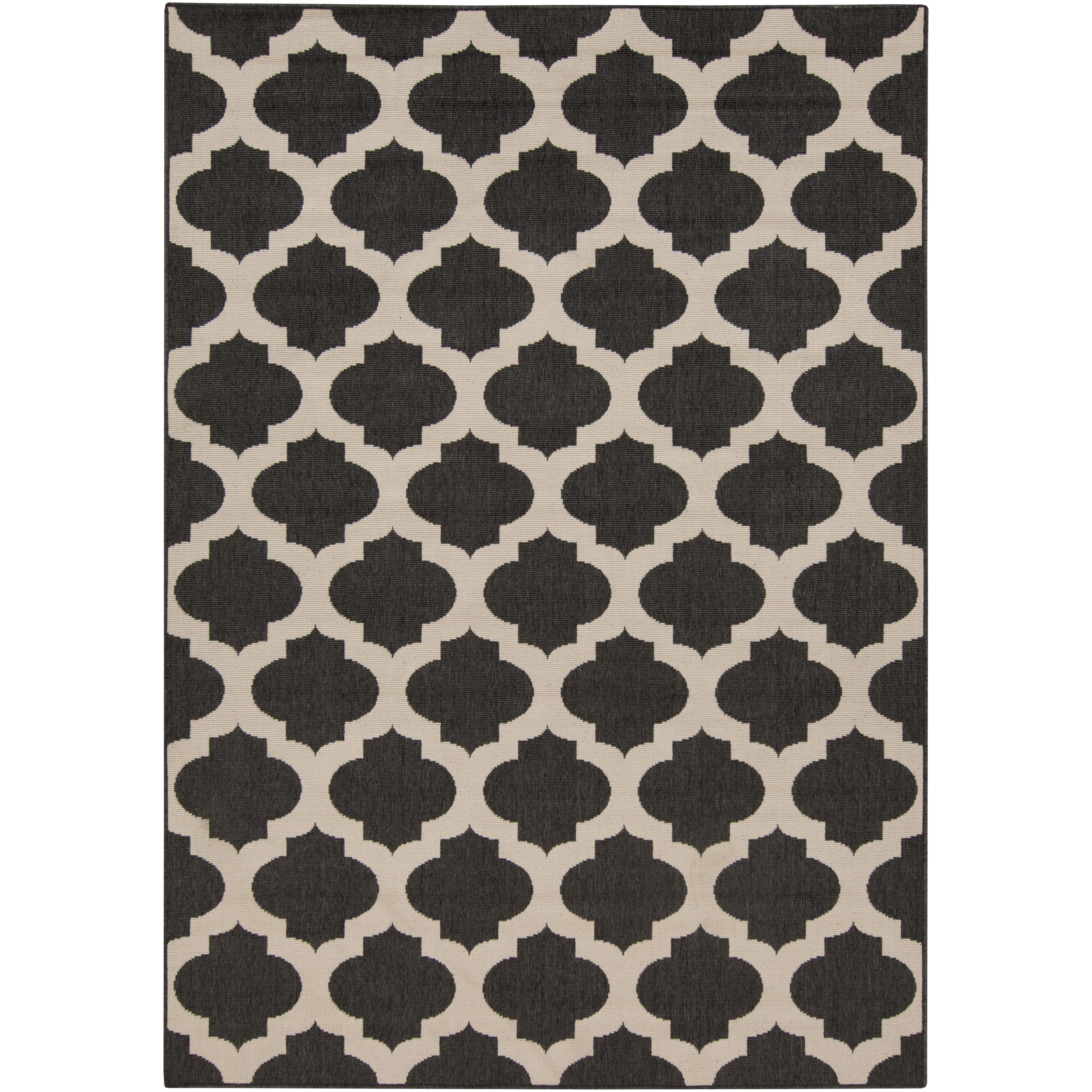 dwellstudio modern trellis ink outdoor area rug reviews wayfair