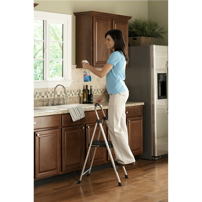 Cosco Home And Office Signature 2 Step Aluminum Step Stool