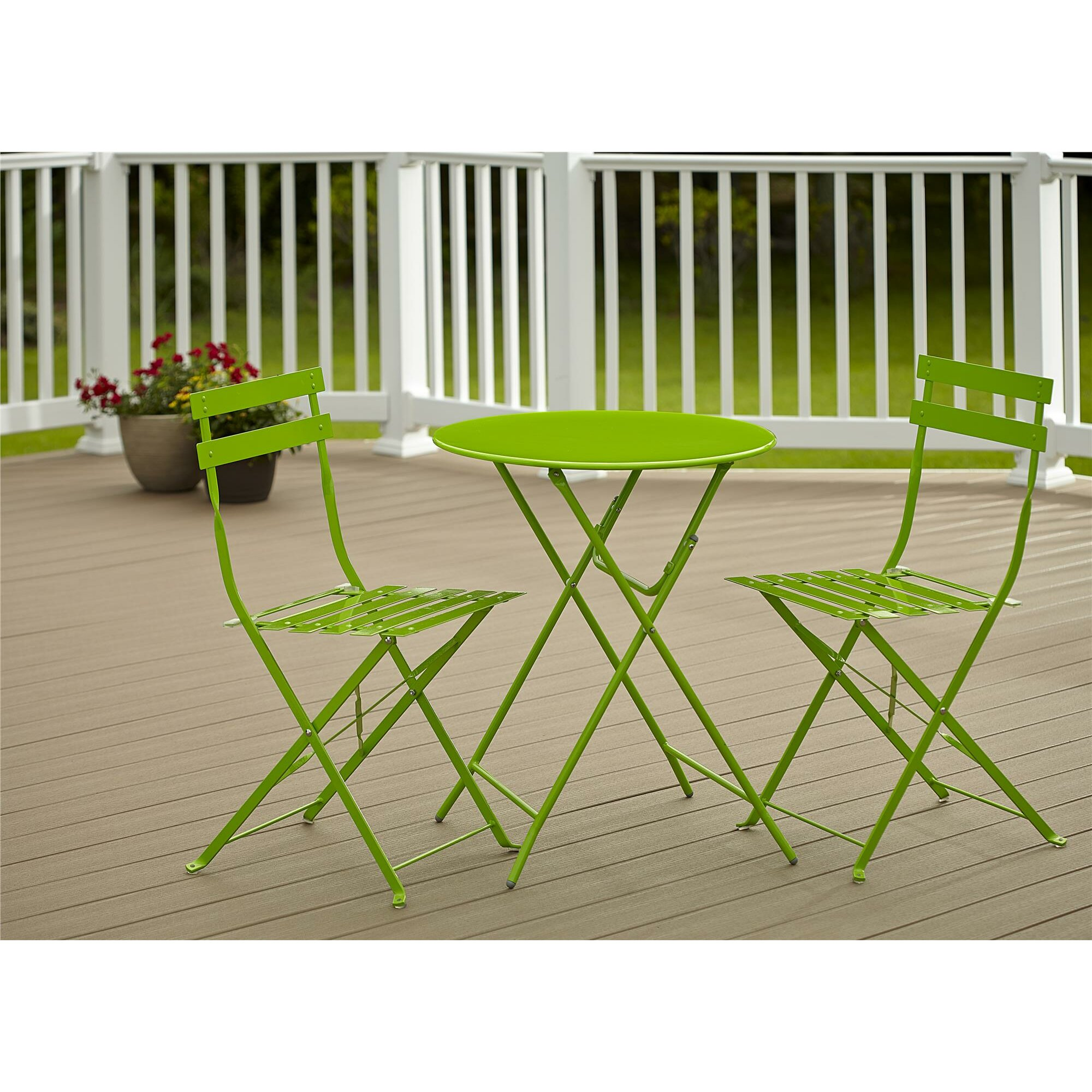 cosco home and office 3 piece folding bistro set reviews. Black Bedroom Furniture Sets. Home Design Ideas