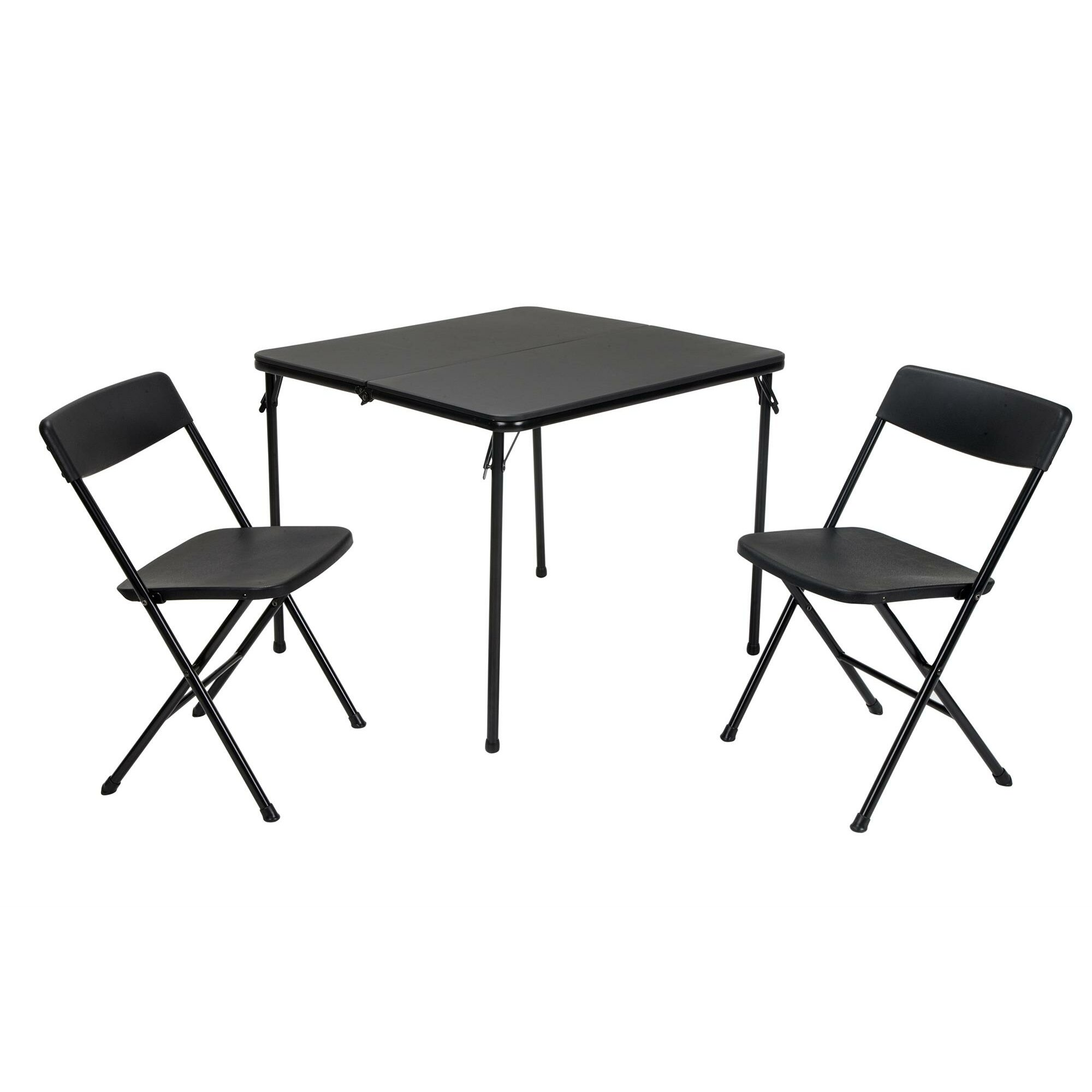 59 Table And Chair Set Walmart Cosco 5 Piece Folding: Cosco Home And Office 3 Piece Indoor/Outdoor Centre Fold