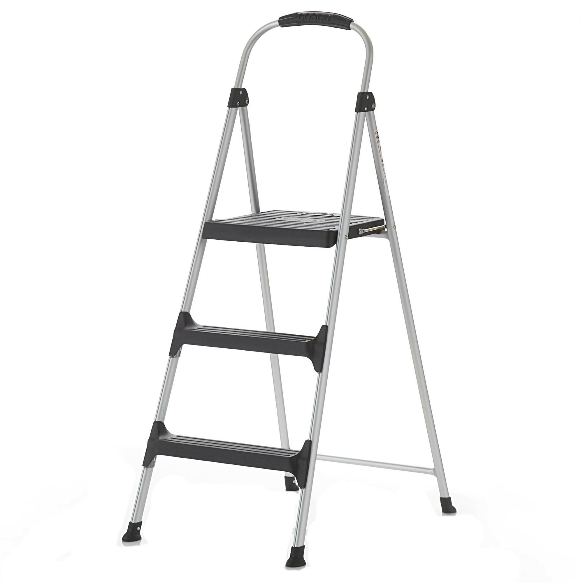 Cosco Home And Office Signature 3 Step Aluminum Step Stool